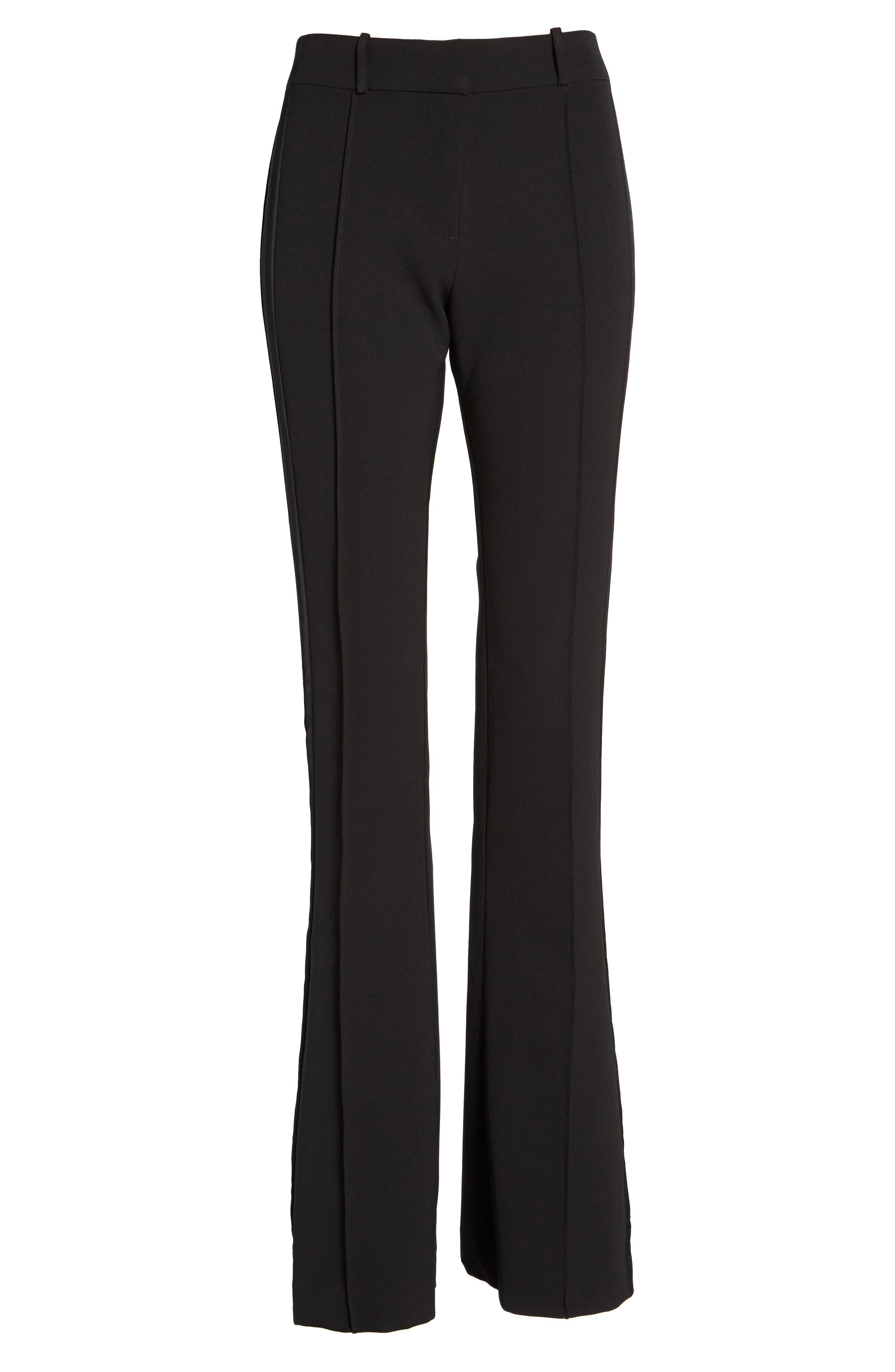 Roxy Flare Leg Pants,                             Alternate thumbnail 6, color,                             Black
