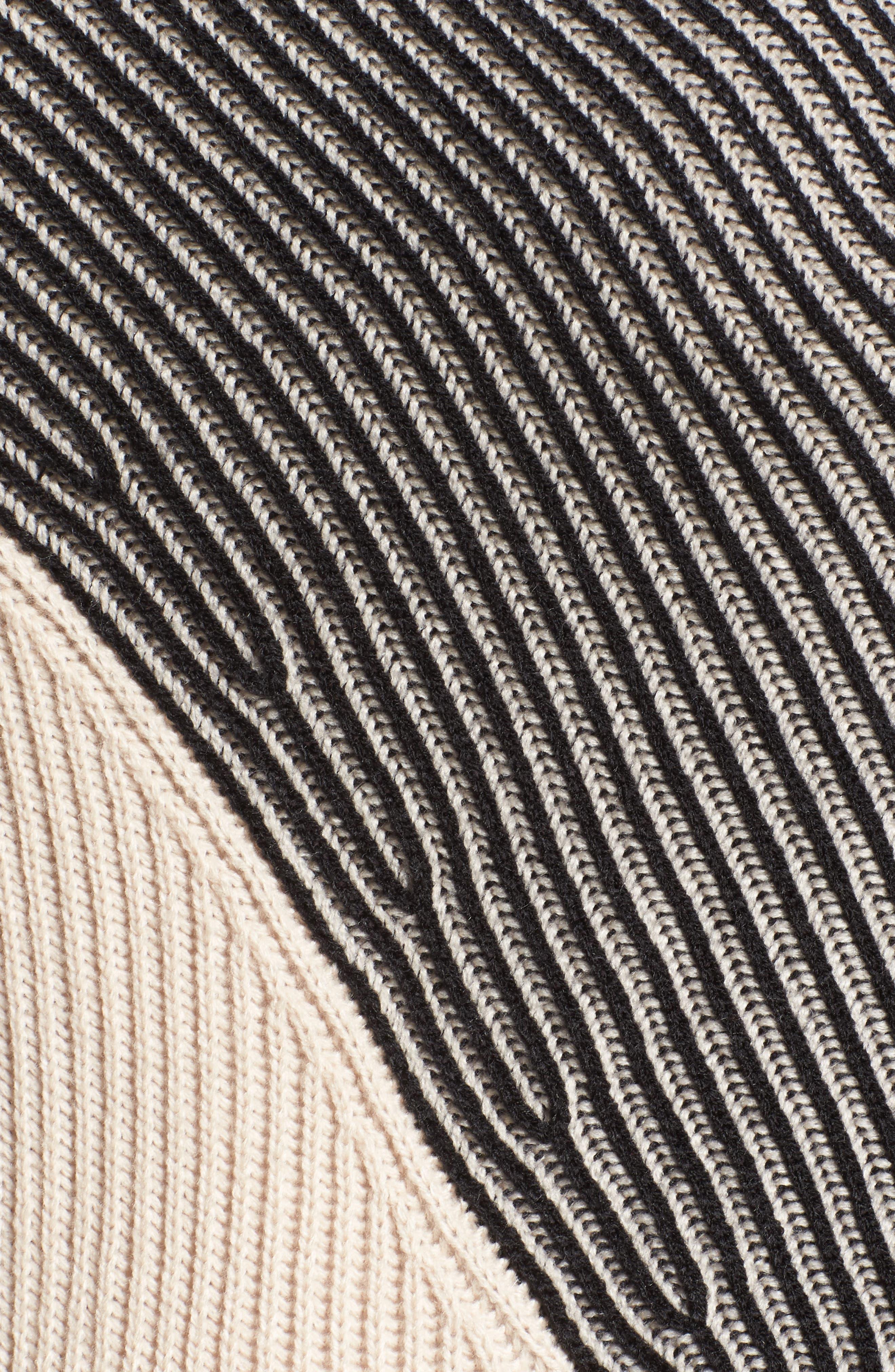 Alternate Image 5  - Caslon® Colorblock Ribbed Cardigan (Plus Size)
