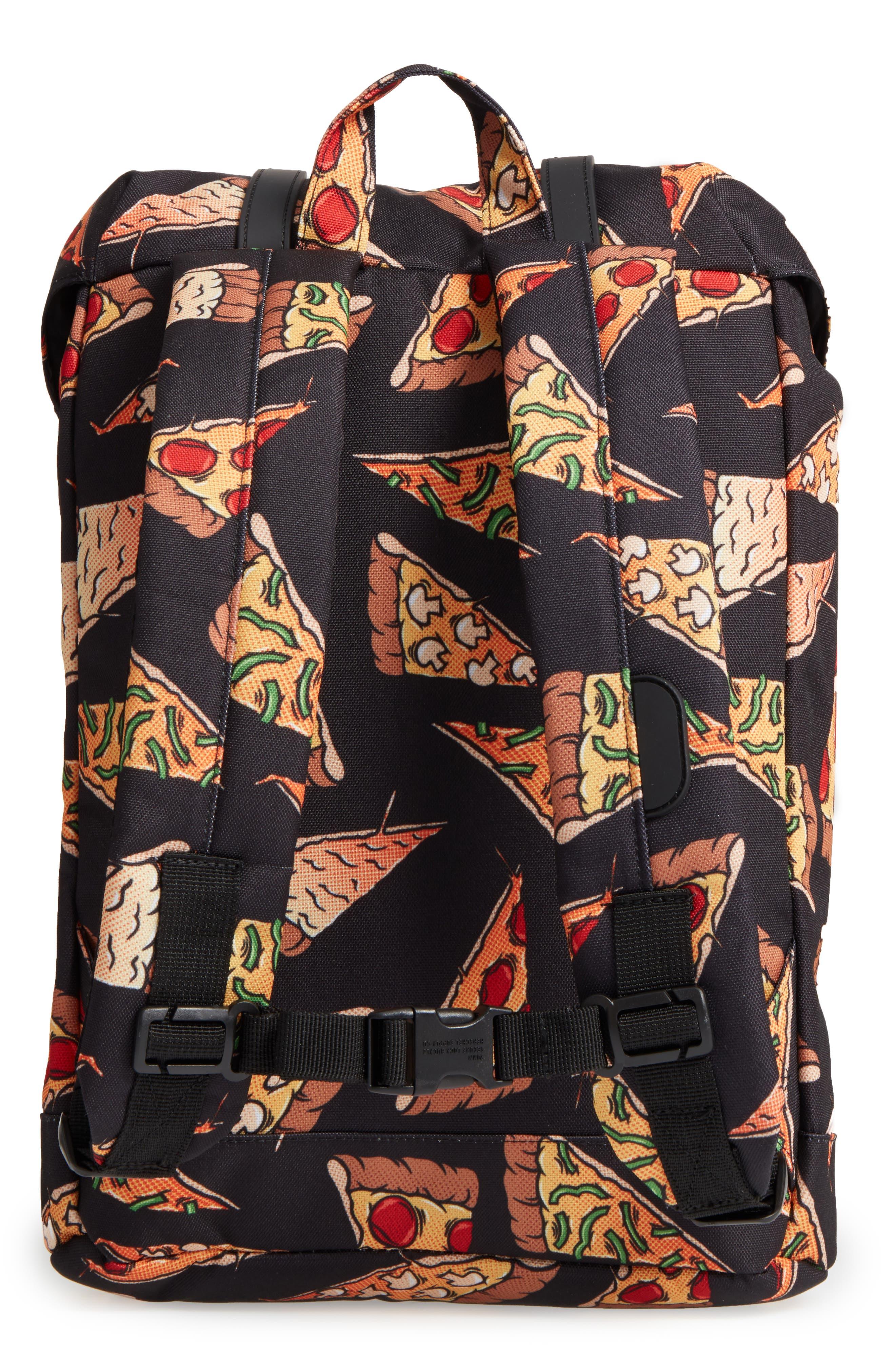 Retreat Backpack,                             Alternate thumbnail 2, color,                             Black Pizza