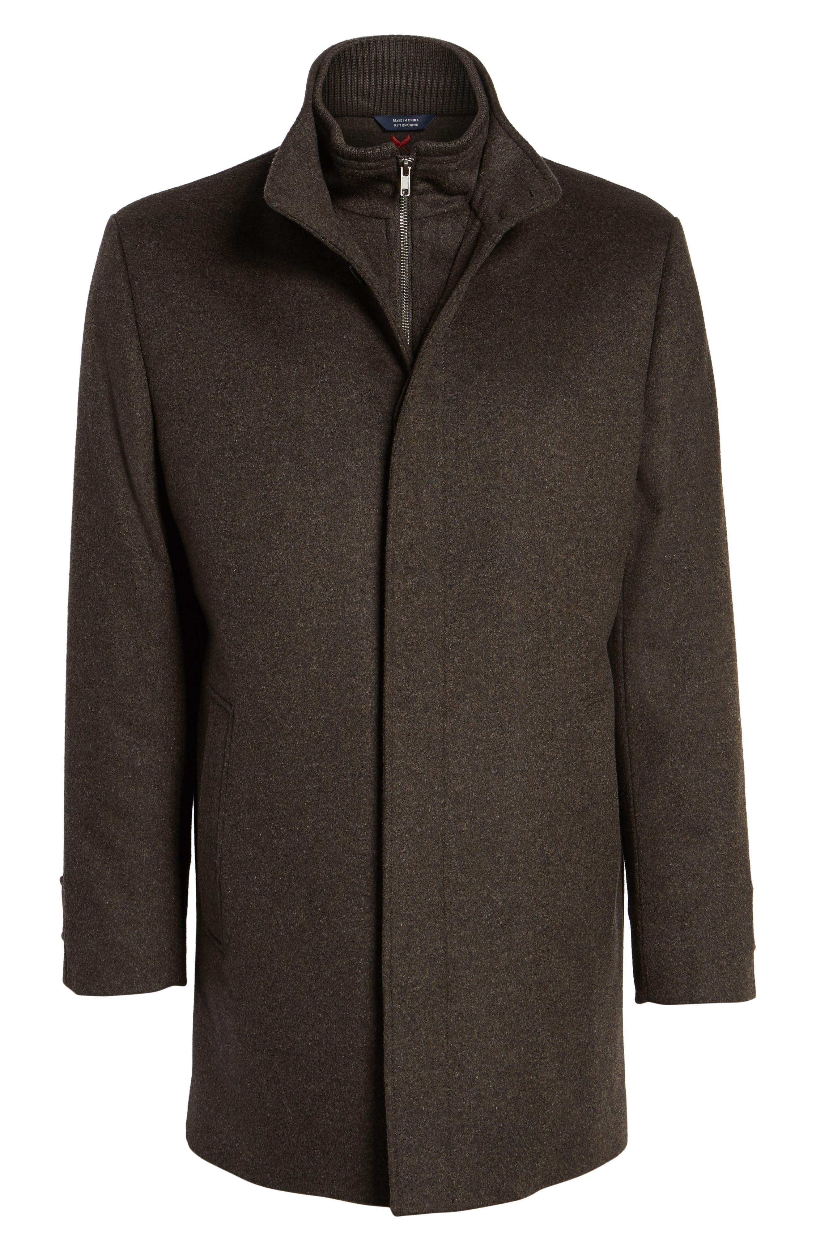 Wool Jacket,                             Alternate thumbnail 6, color,                             Brown Melange