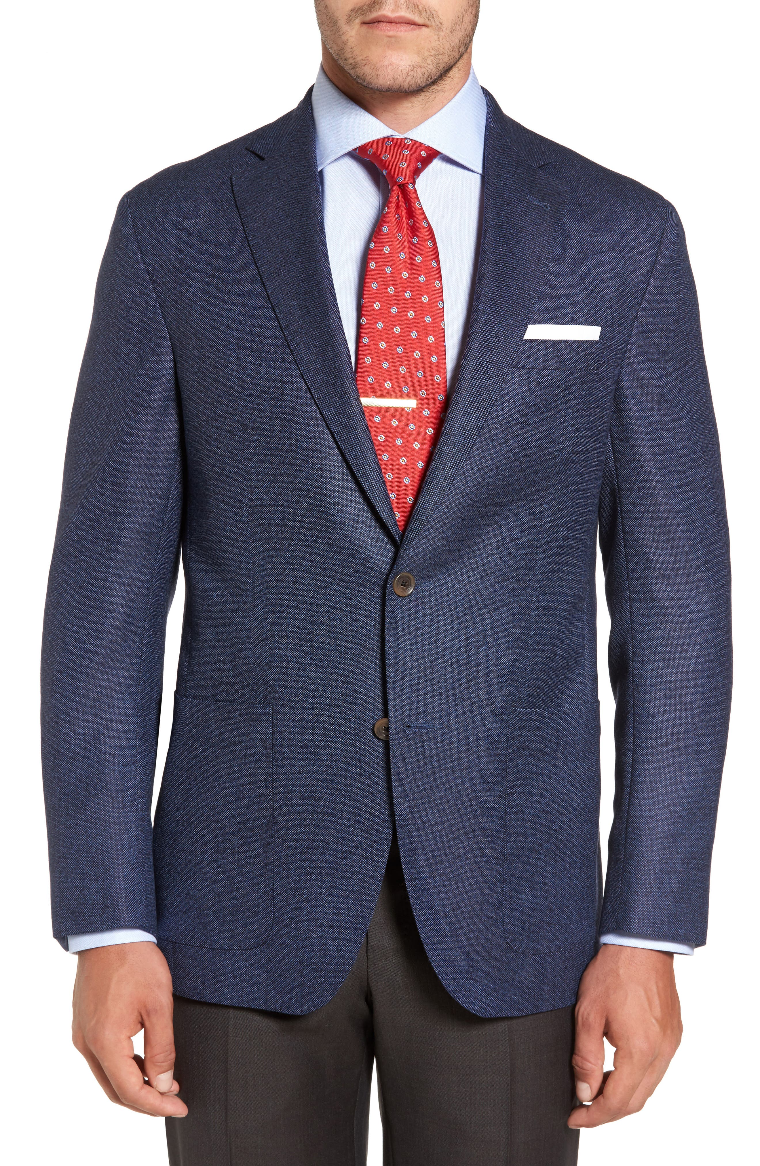 Aiden Classic Fit Wool Blazer,                         Main,                         color, Blue