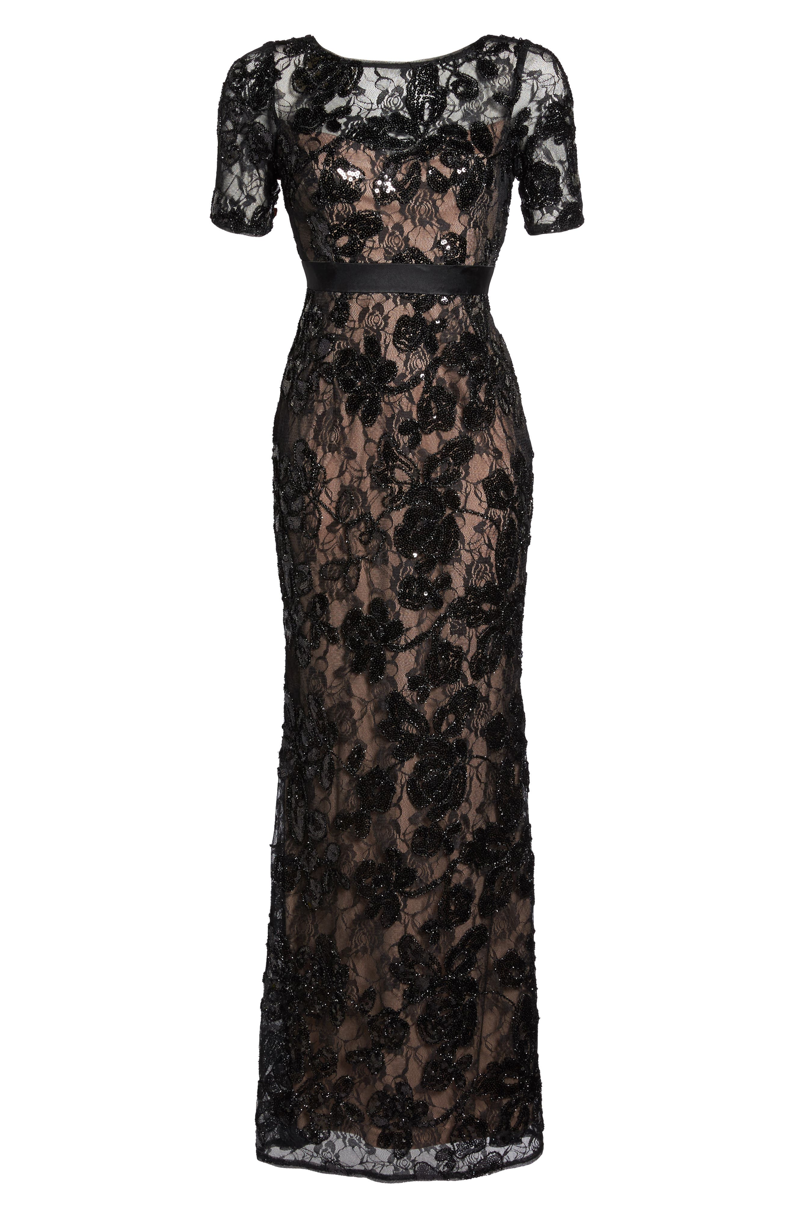 Alternate Image 6  - Adrianna Papell Sequin Lace Gown