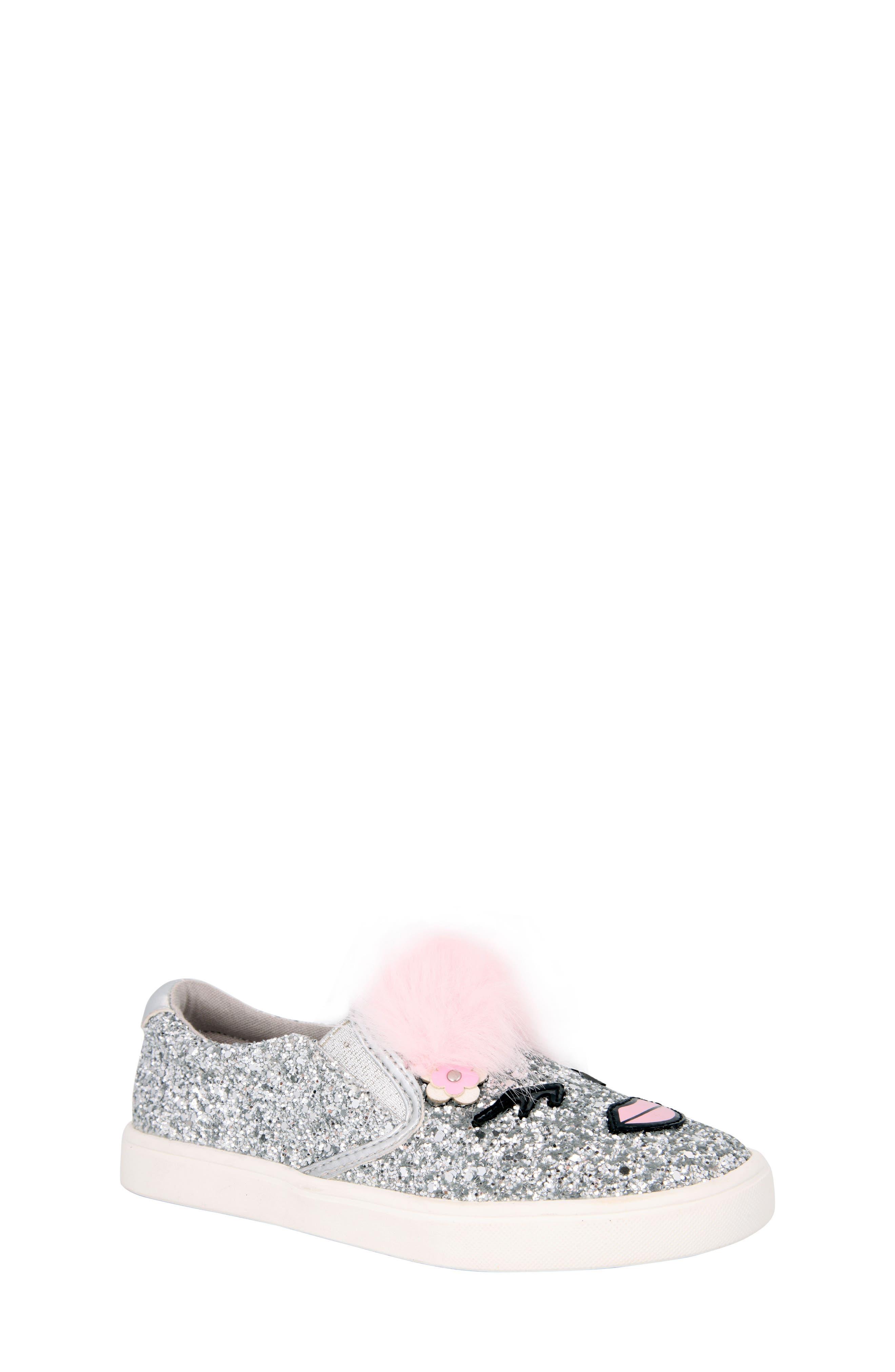 Alternate Image 1 Selected - Nina Ragina Faux Fur Slip-On Sneaker (Little Kid & Big Kid)