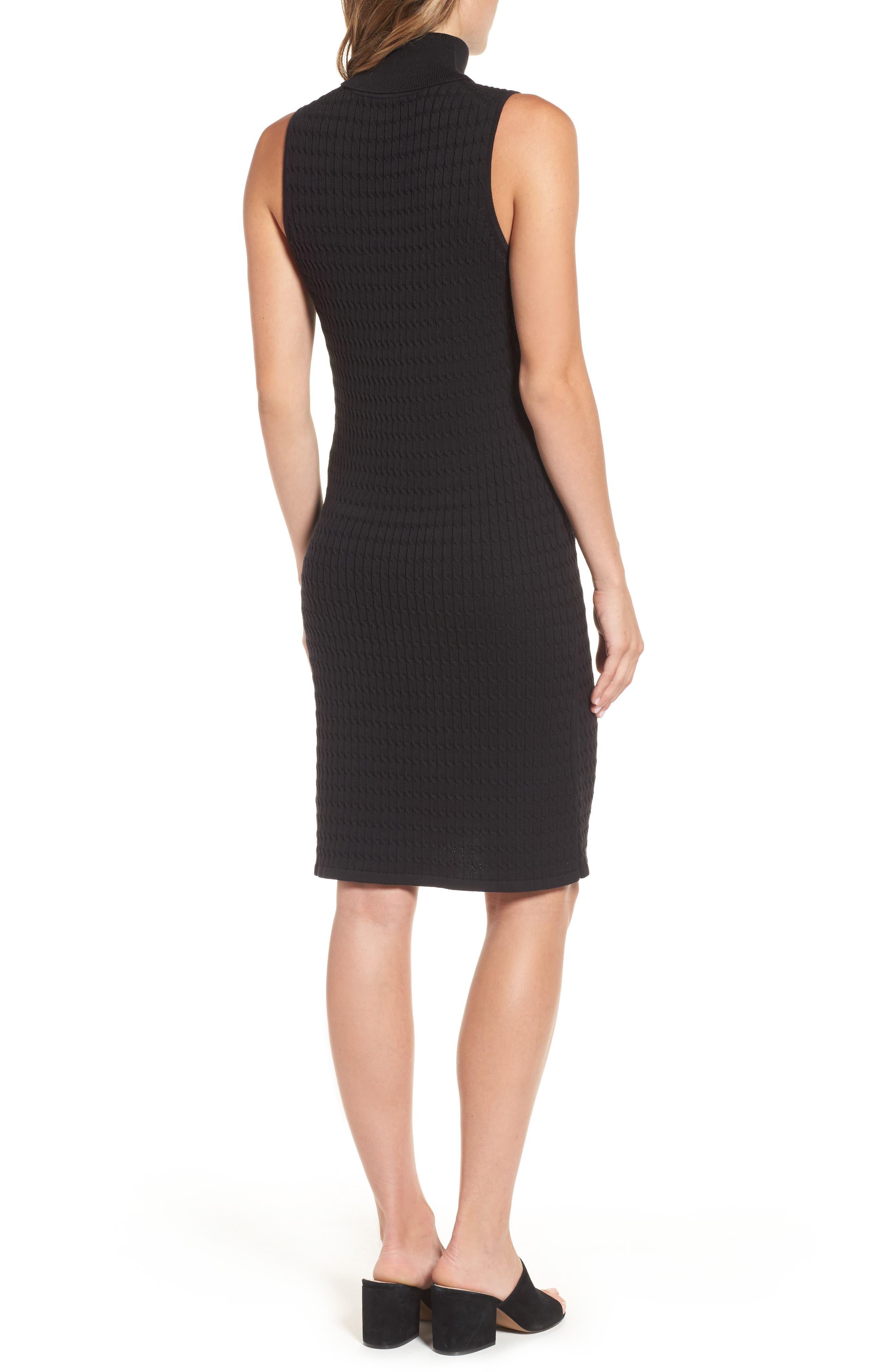 Alternate Image 2  - Tommy Bahama Sleeveless Turtleneck Dress