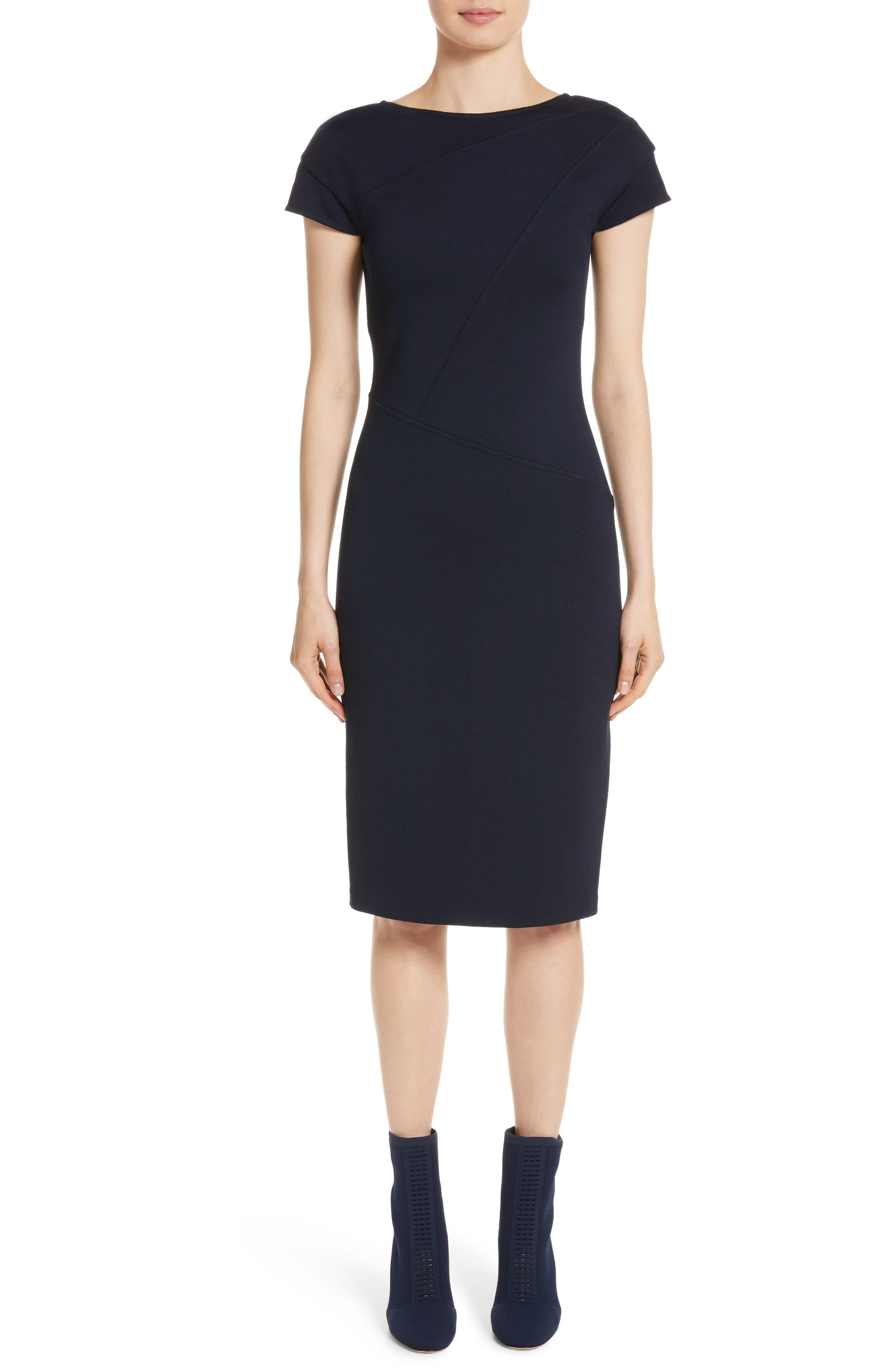 Milano Knit Dress,                         Main,                         color, Navy