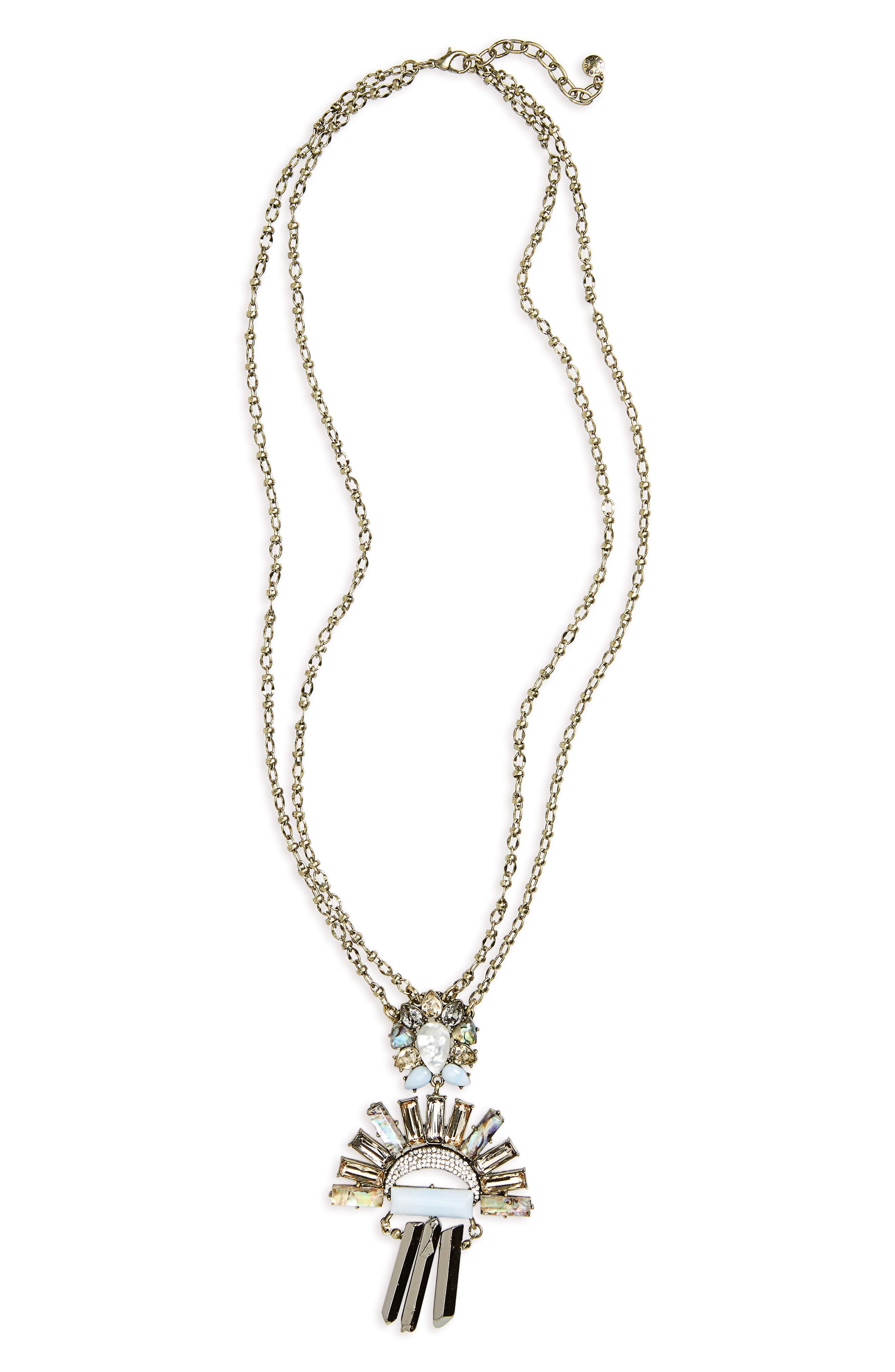 Torrence Crystal Necklace,                         Main,                         color, Blue