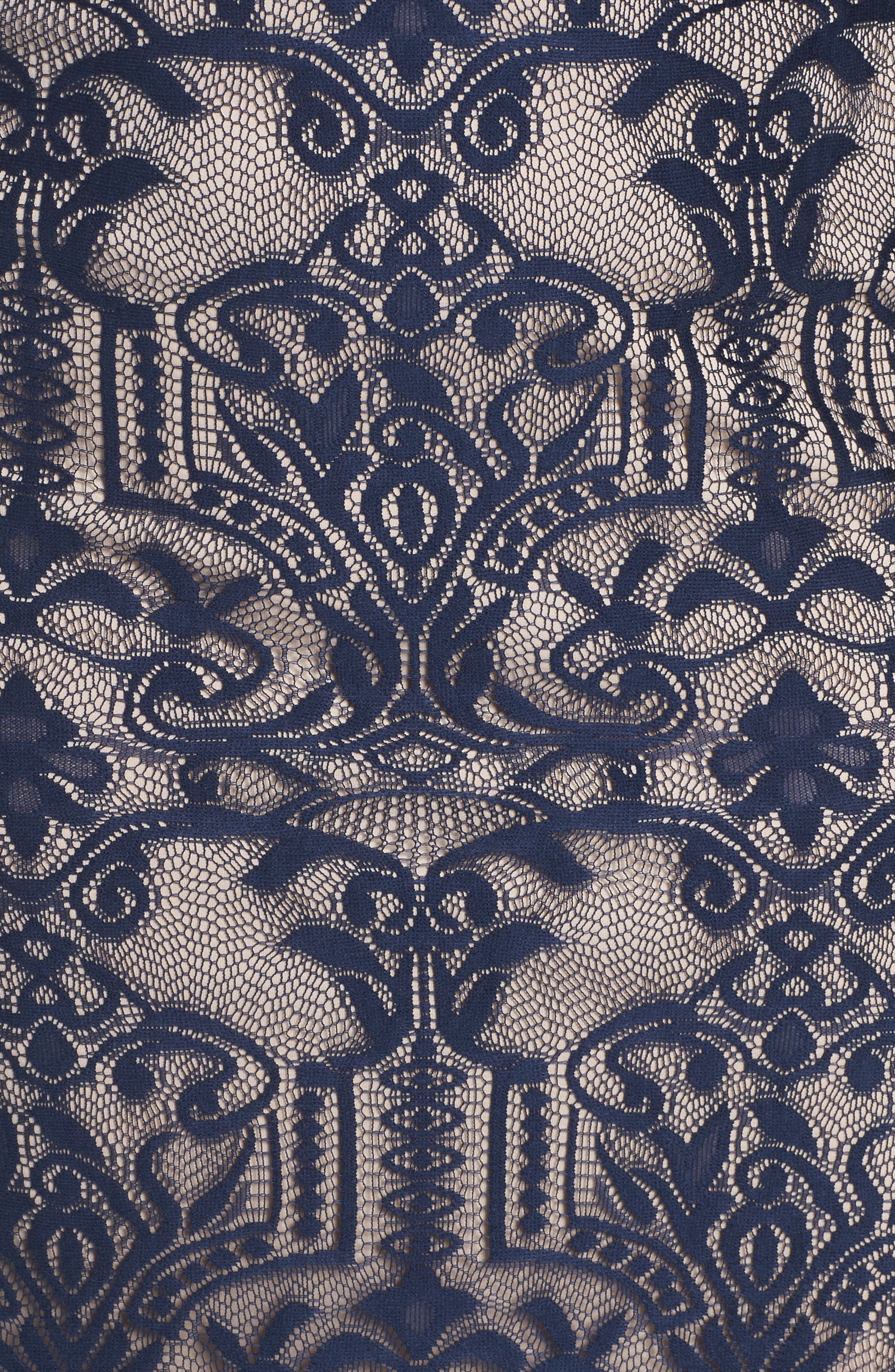 Alternate Image 5  - Sangria A-Line Lace Gown (Plus Size)