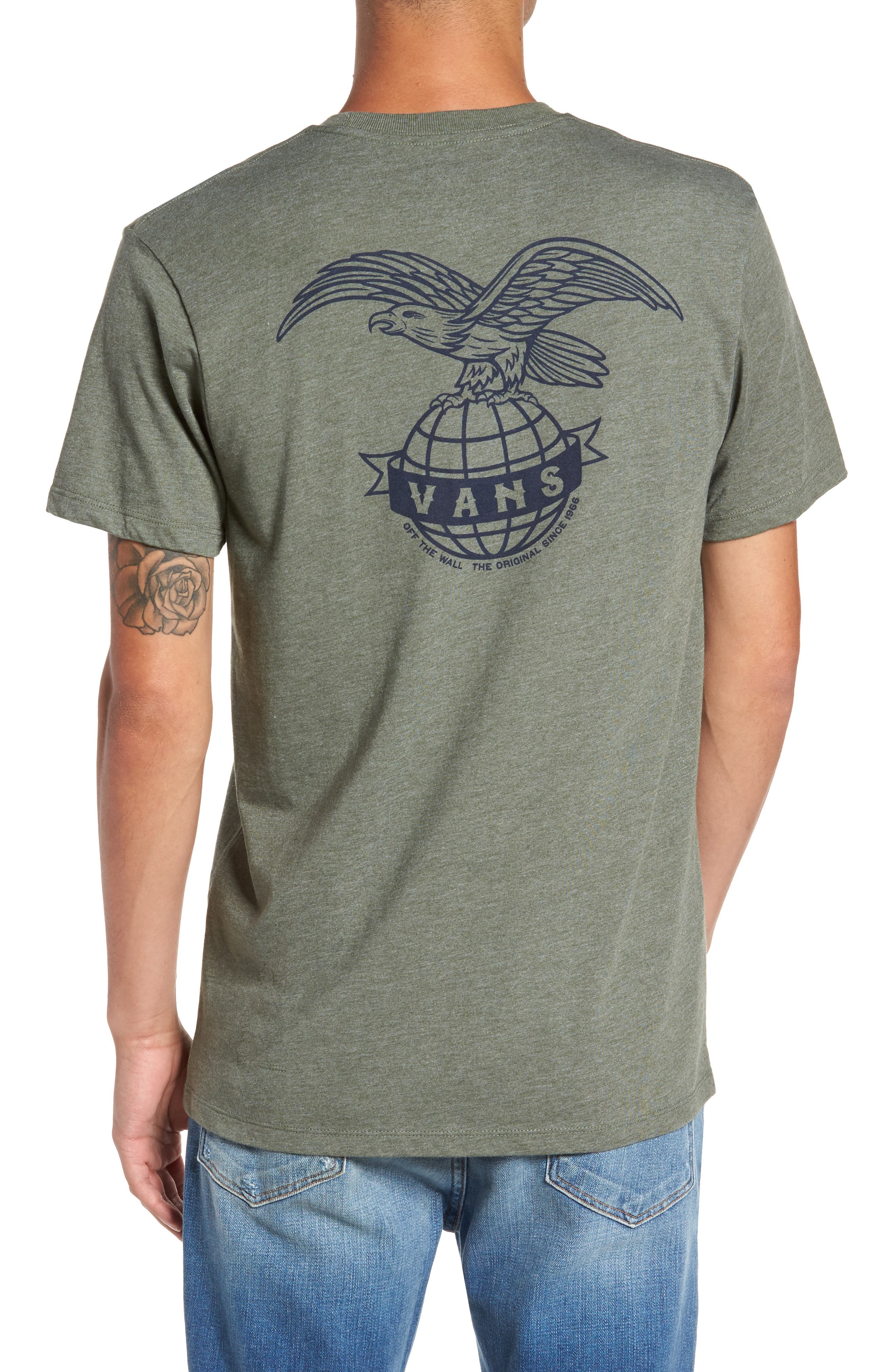 Global Landing Logo Graphic T-Shirt,                             Alternate thumbnail 2, color,                             Olive Heather