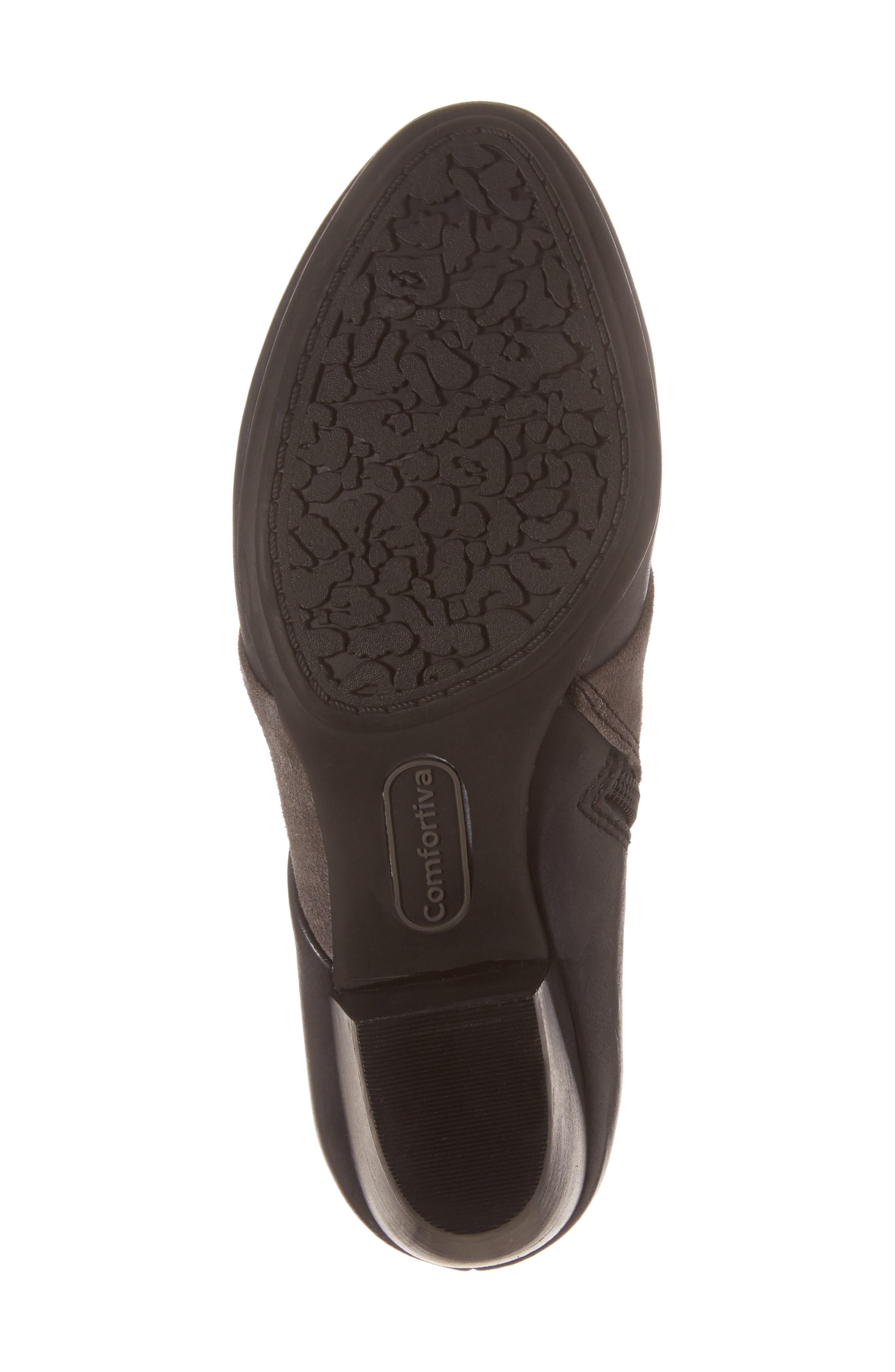 Amesbury Colorblock Bootie,                             Alternate thumbnail 6, color,                             Black/ Steel Grey Leather