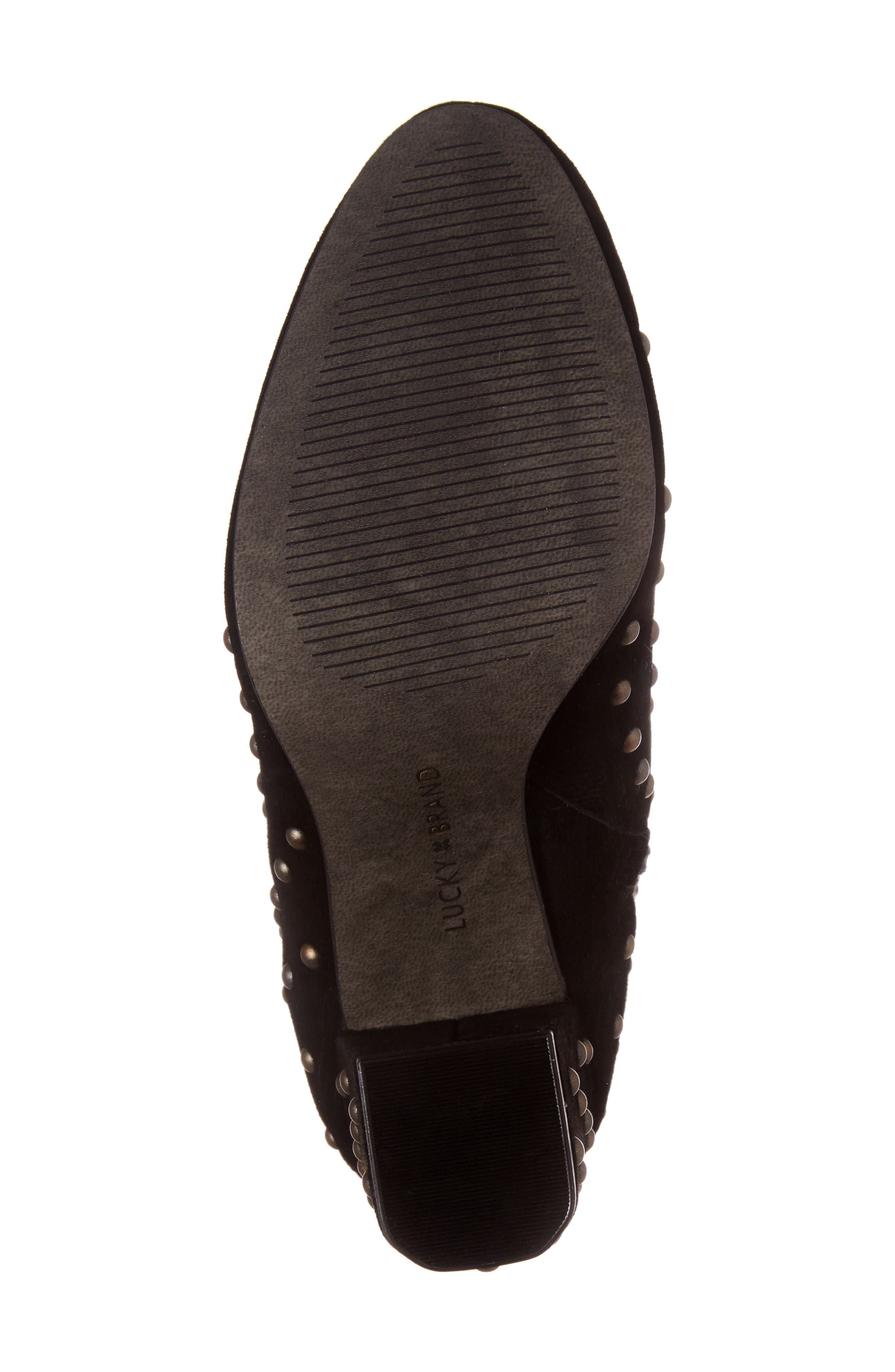 Wesson II Studded Bootie,                             Alternate thumbnail 6, color,                             Black Suede