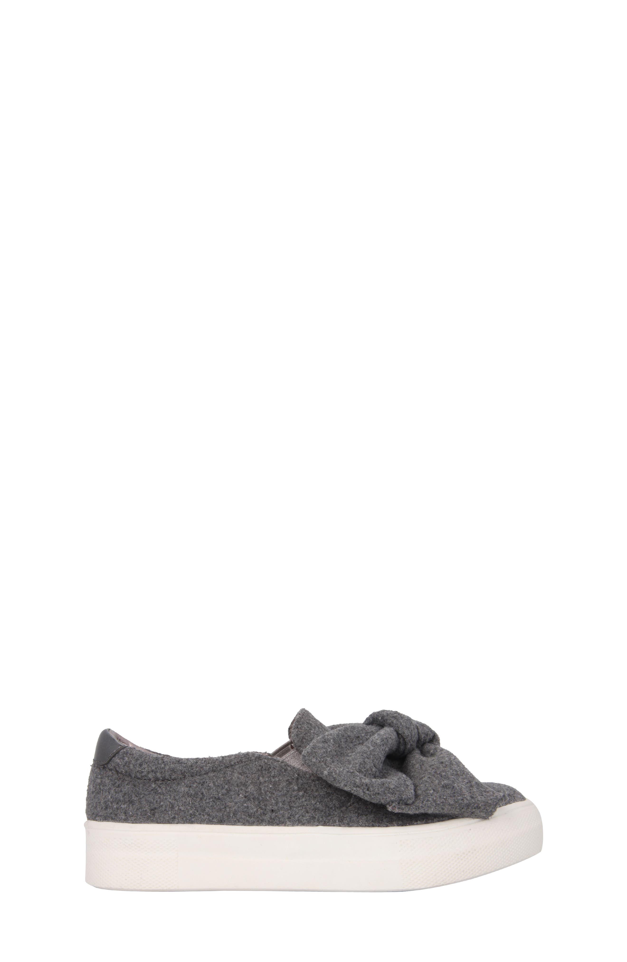 Vaneza Slip-On Bow Sneaker,                             Alternate thumbnail 3, color,                             Grey Flannel