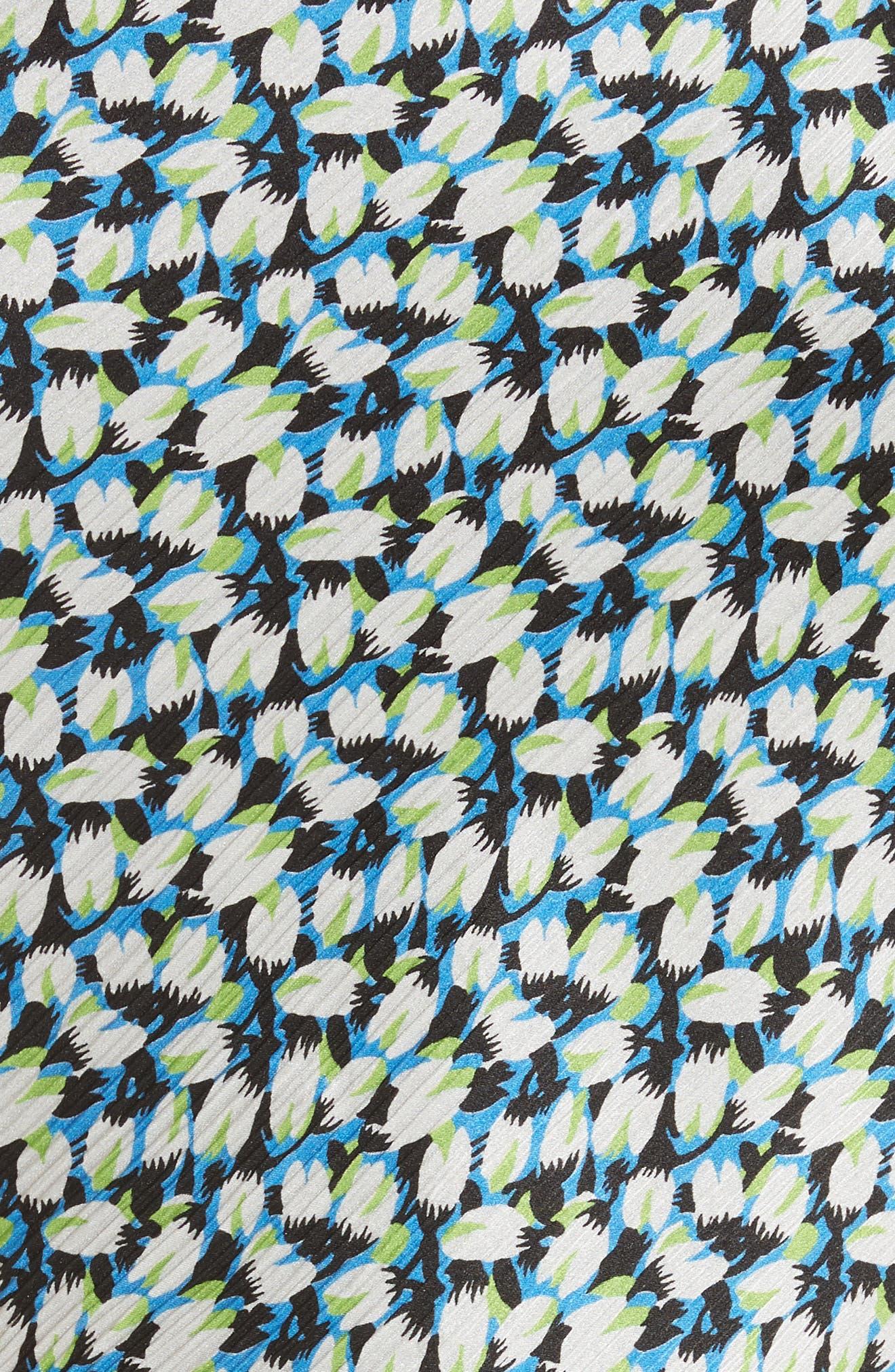 Asymmetrical Crinkle Silk Crepon Top,                             Alternate thumbnail 5, color,                             Light Blue Multi
