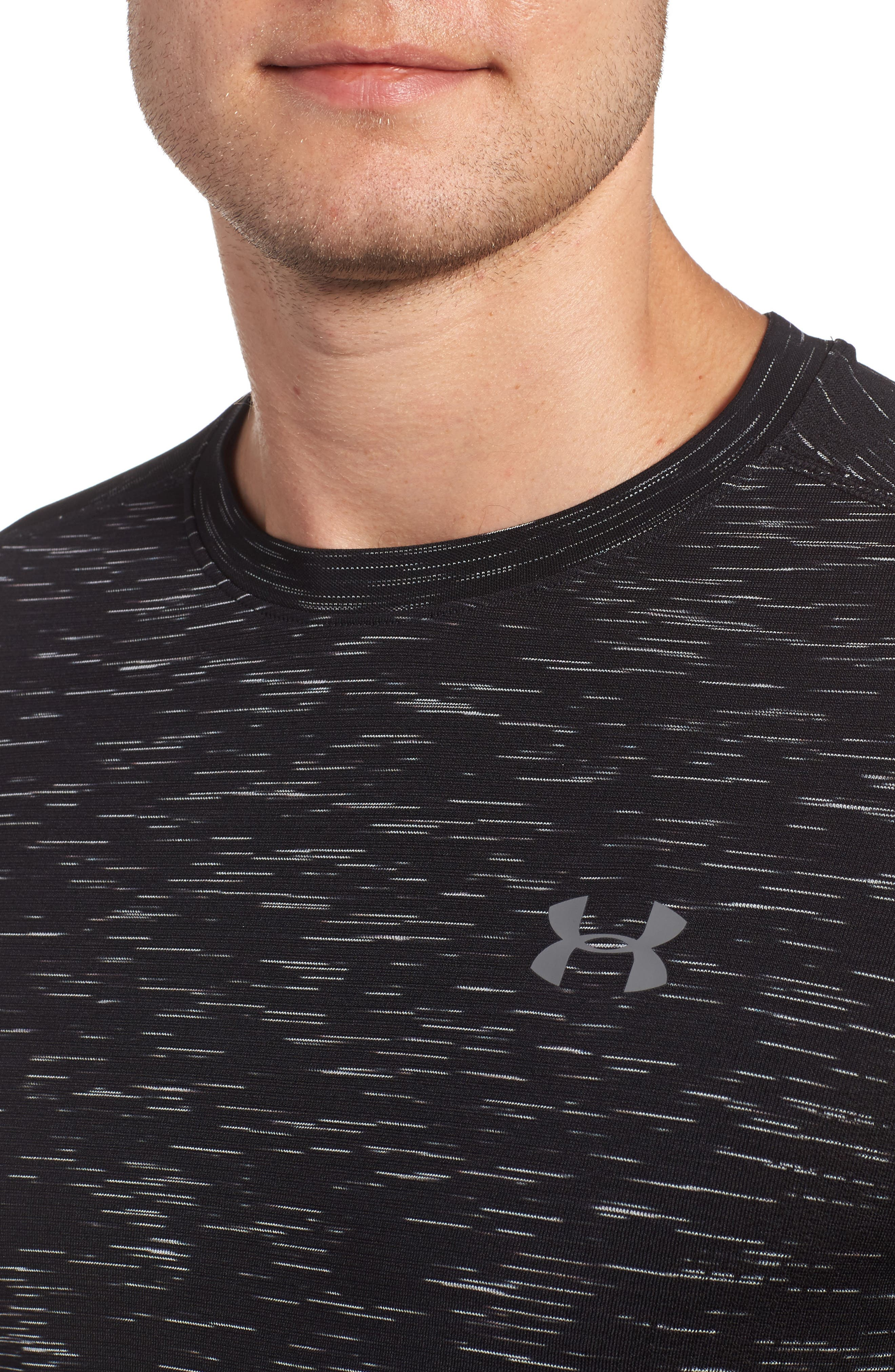 Threadborne Regular Fit T-Shirt,                             Alternate thumbnail 4, color,                             Black / Graphite