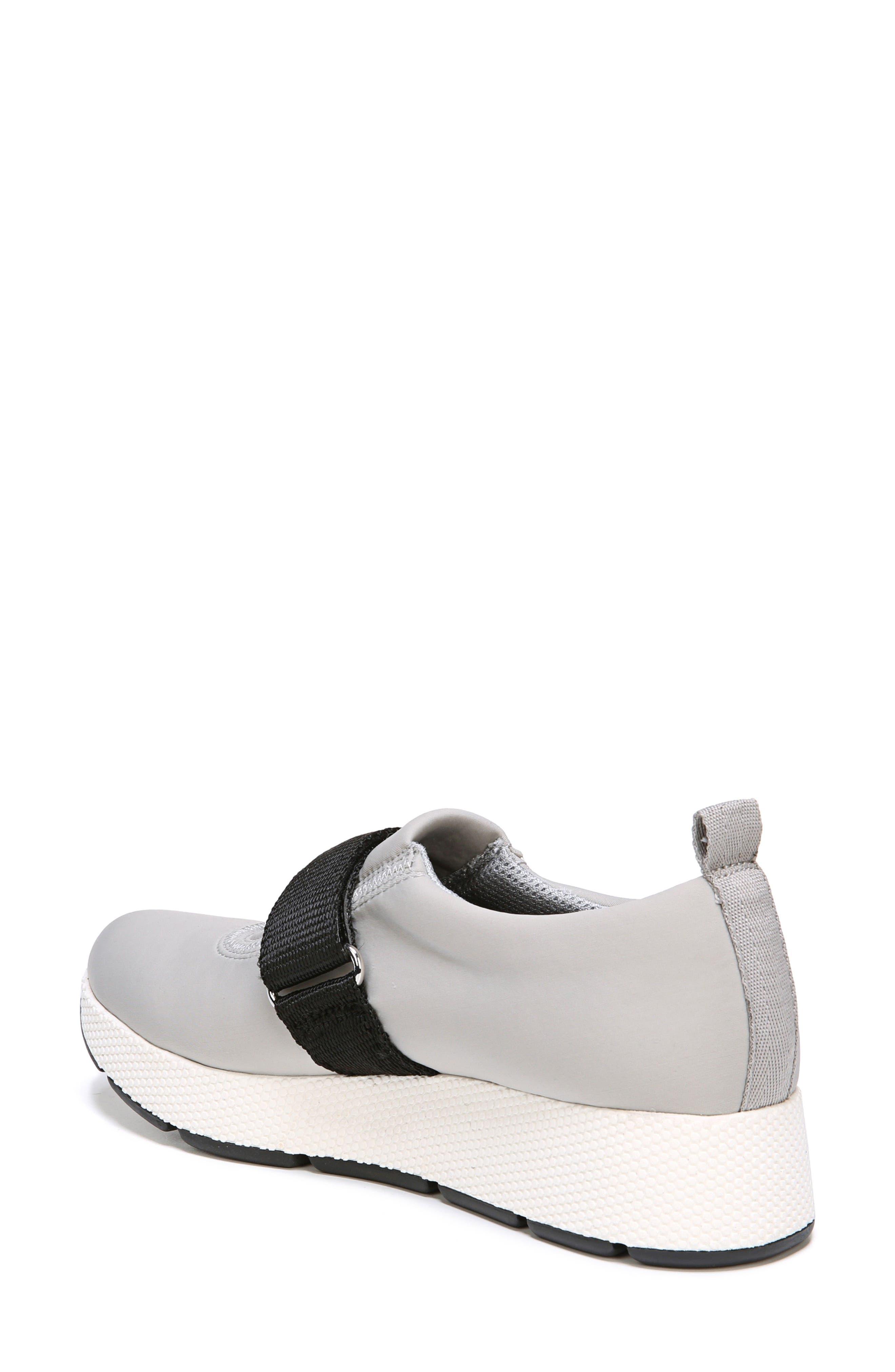 Odella Slip-On Sneaker,                             Alternate thumbnail 2, color,                             Light Grey Fabric