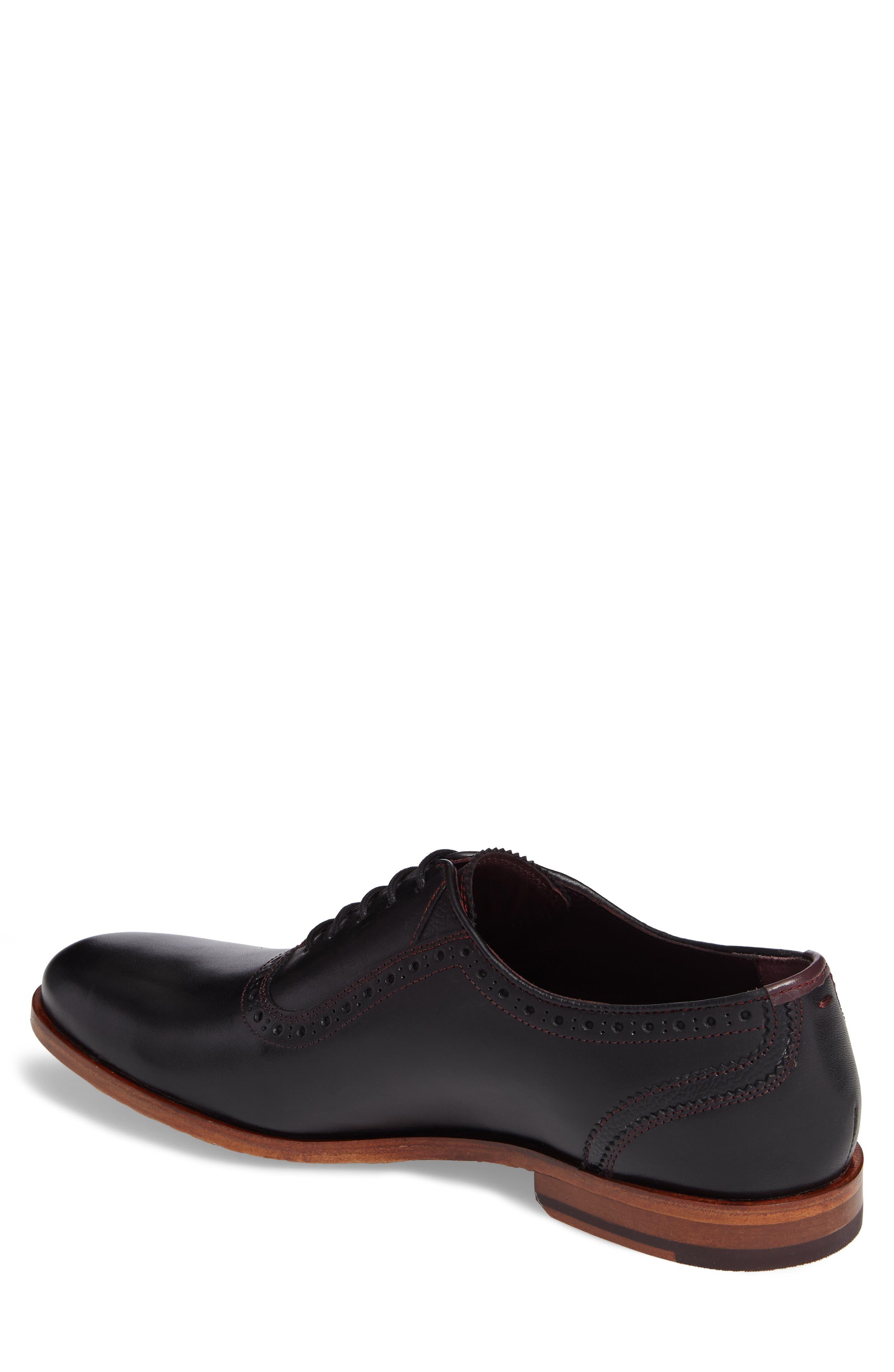 Anice Plain Toe Oxford,                             Alternate thumbnail 2, color,                             Black Leather