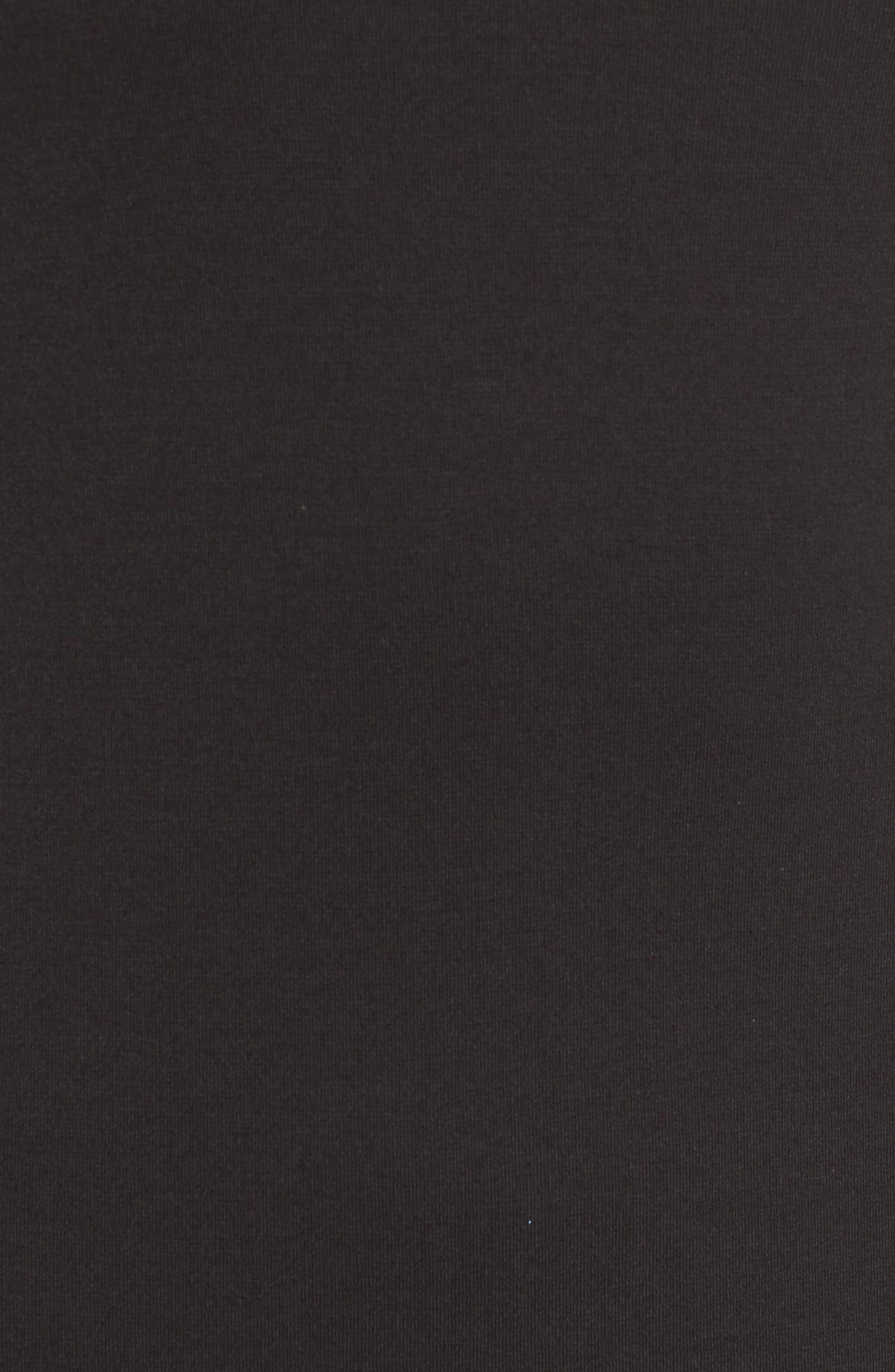 Ponte Knit A-Line Dress,                             Alternate thumbnail 5, color,                             Black