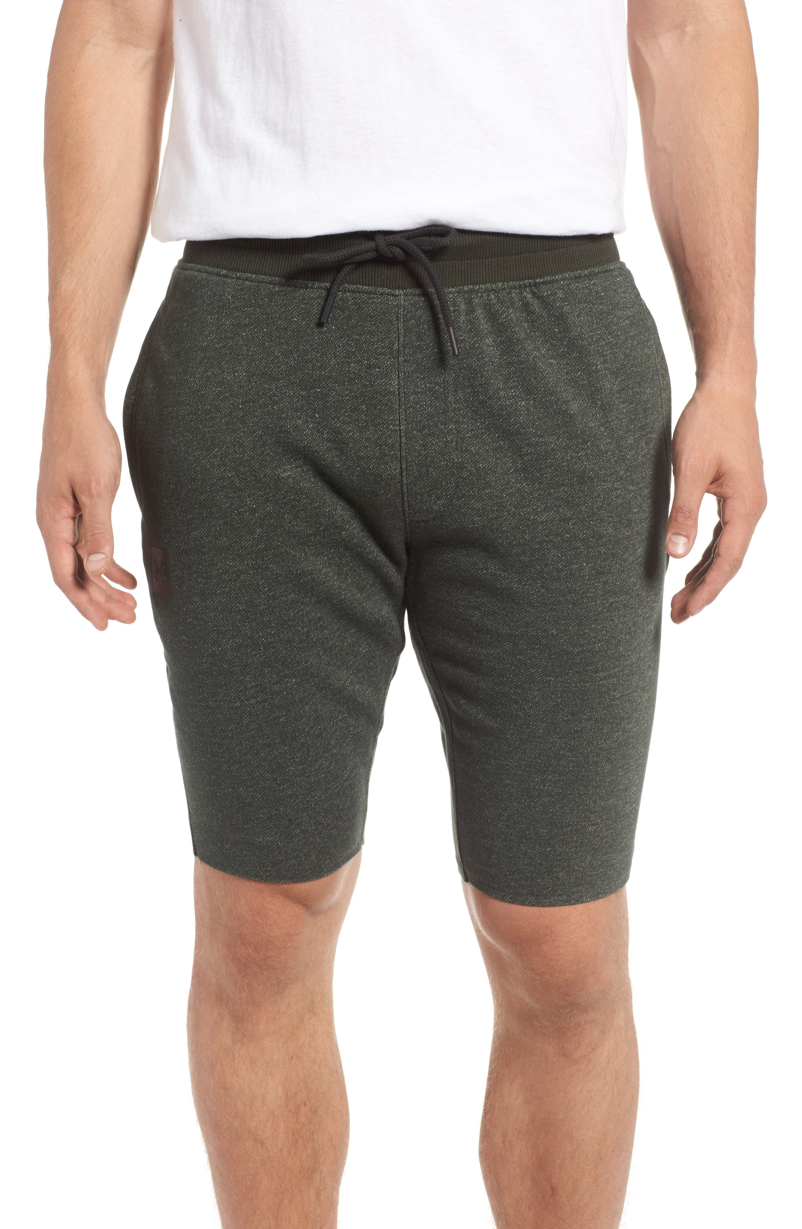 Terry Knit Athletic Shorts,                         Main,                         color, Artillery Green / Black