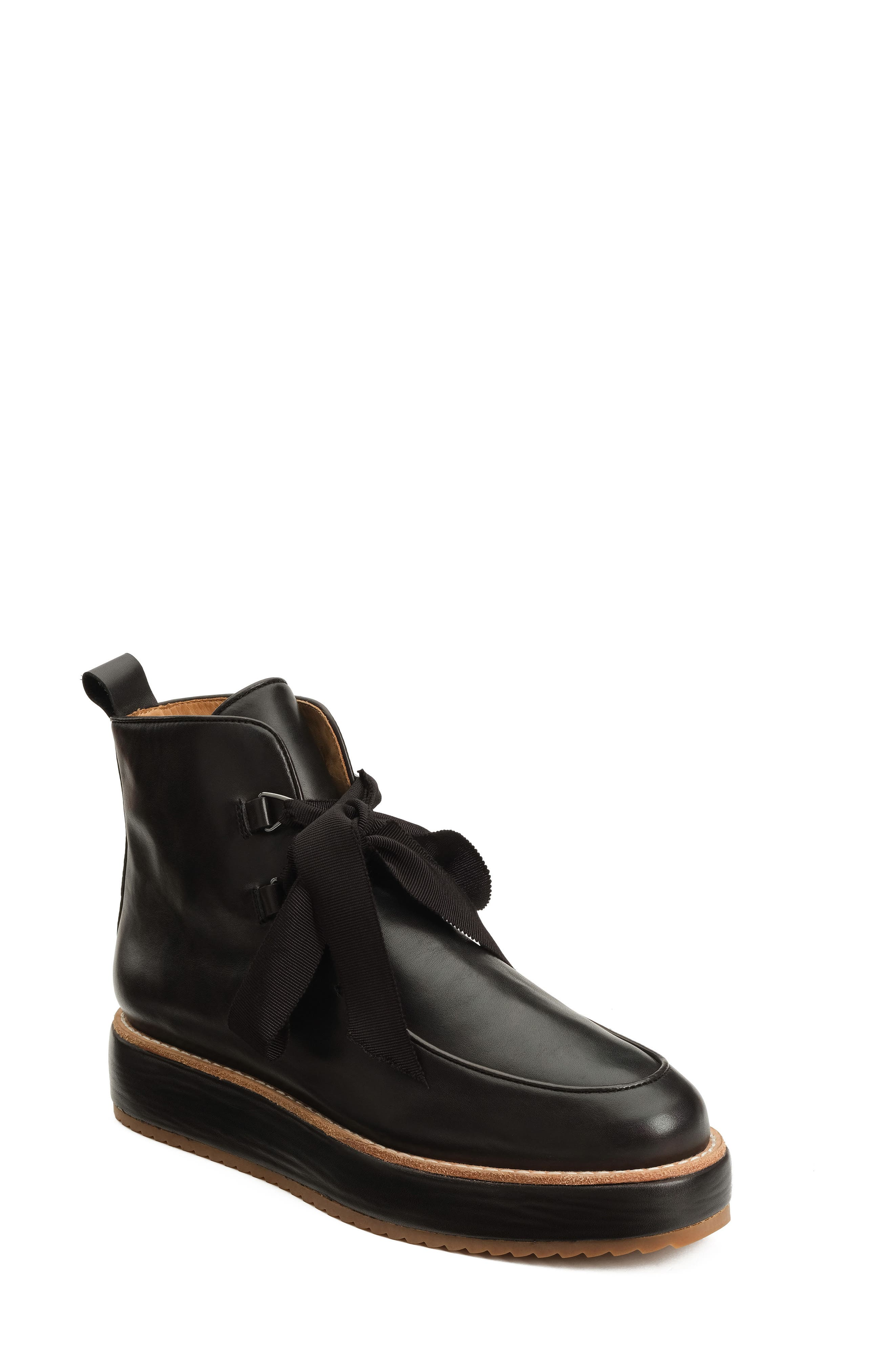 Penny Bootie,                         Main,                         color, Black Box Calf