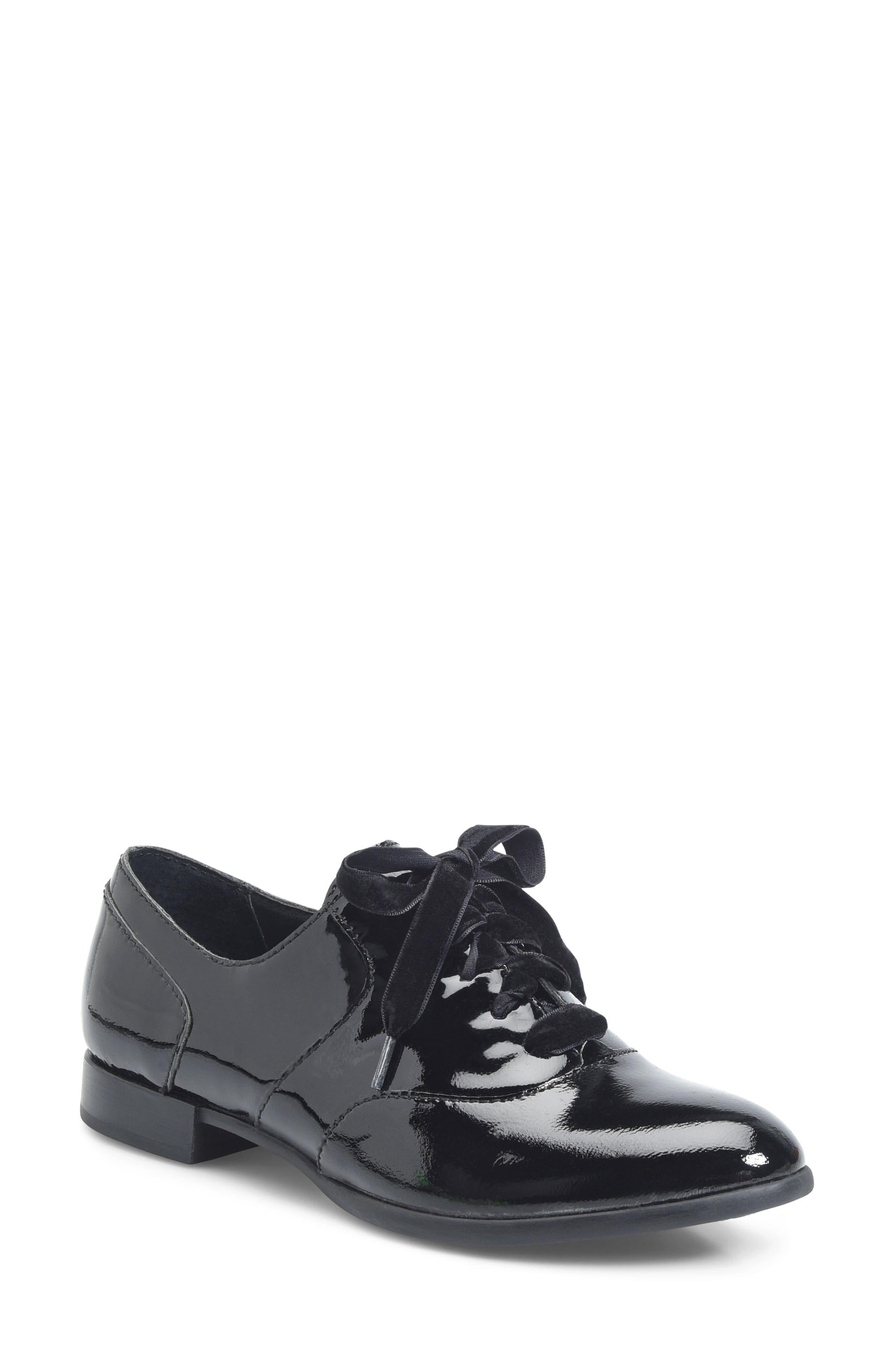 Eden Flat,                             Main thumbnail 1, color,                             Black Patent Leather