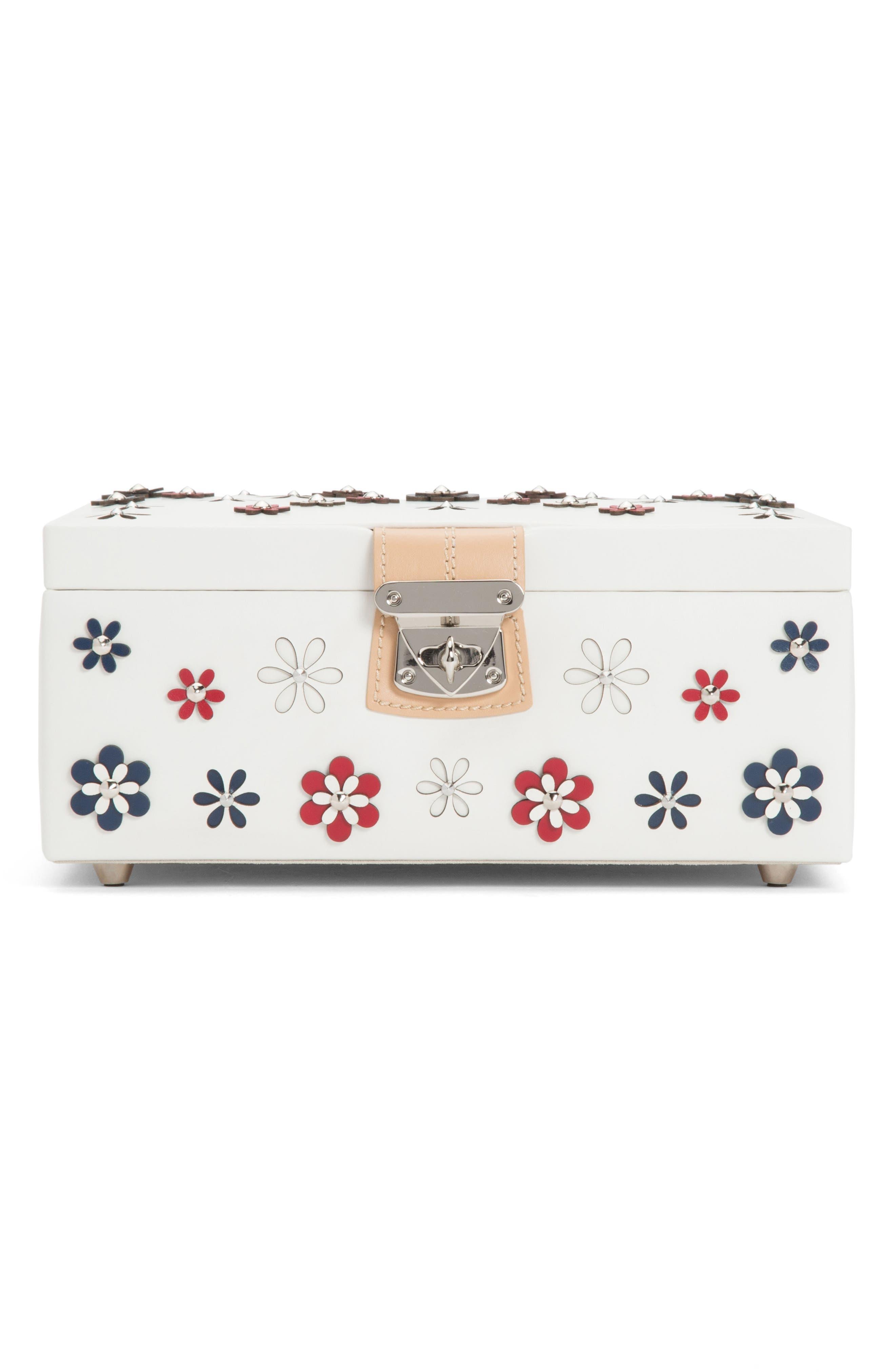 Medium Blossom Jewelry Box,                         Main,                         color, Ivory
