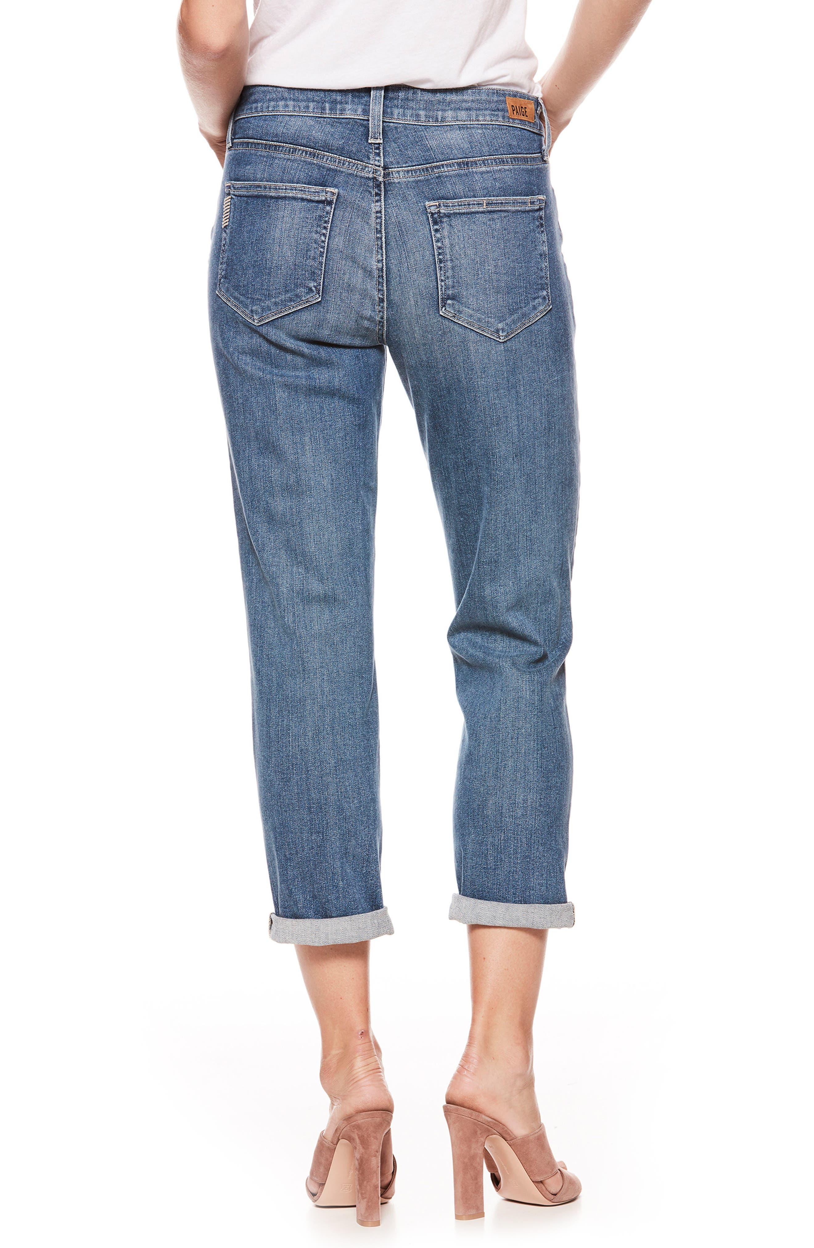 Alternate Image 2  - PAIGE Jimmy Jimmy High Waist Crop Boyfriend Jeans (Kanan)