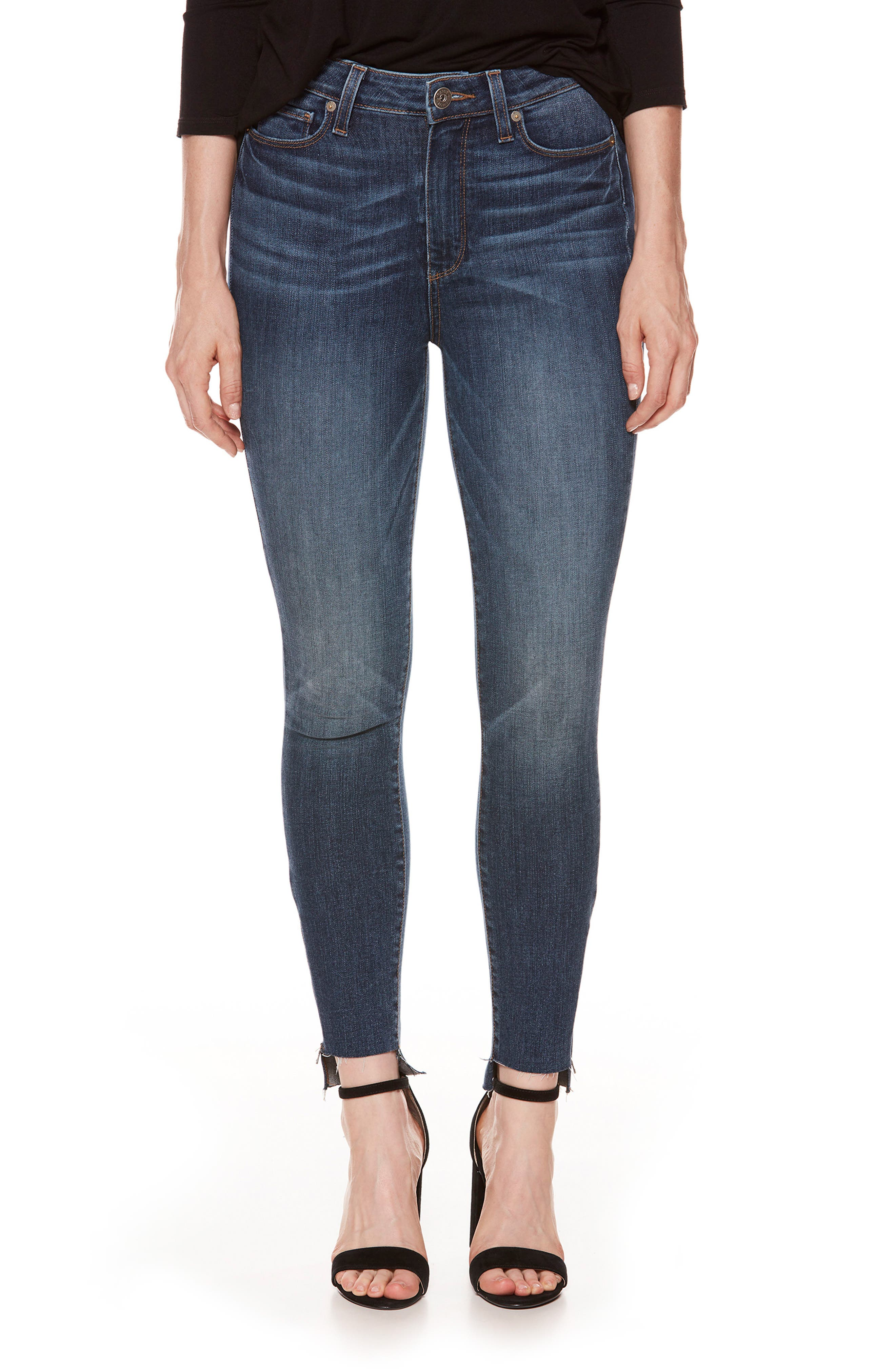 Margot High Waist Zip Skinny Jeans,                         Main,                         color, Westminster