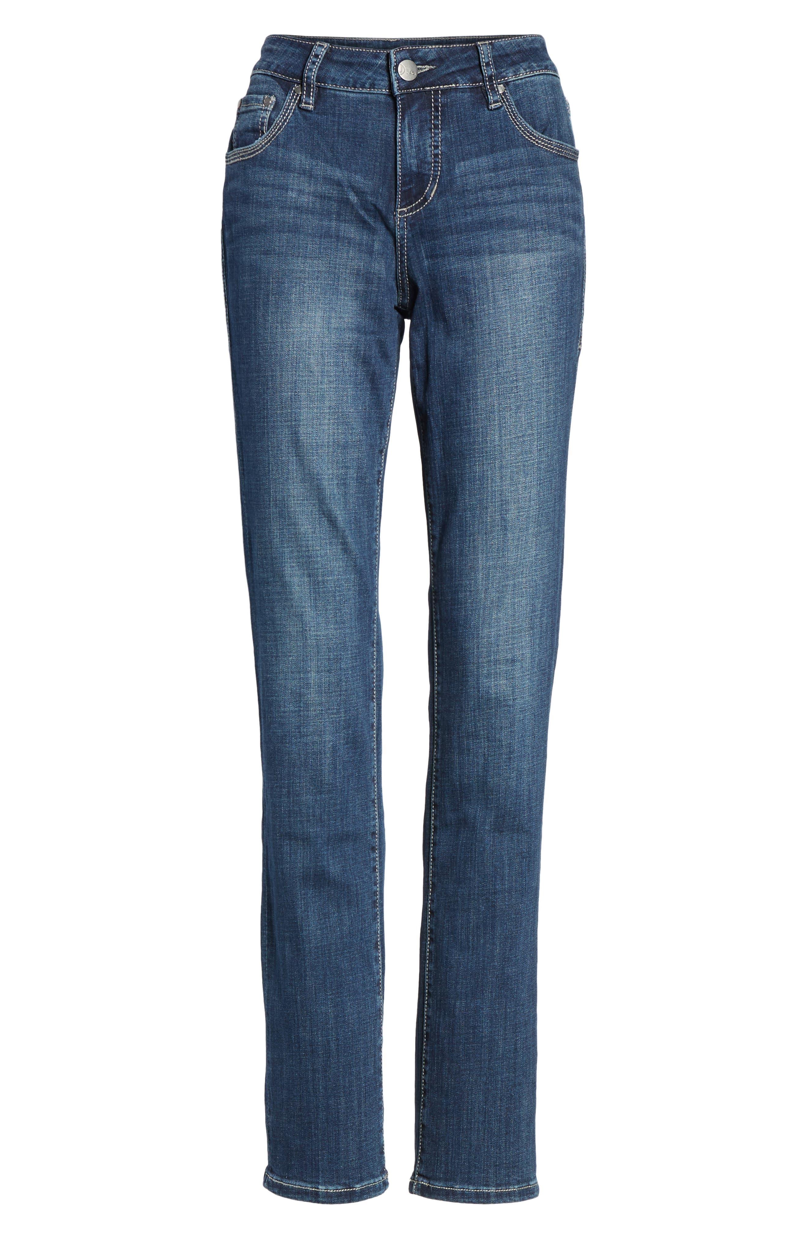 Adrian Straight Leg Jeans,                             Alternate thumbnail 6, color,                             Thorne Blue