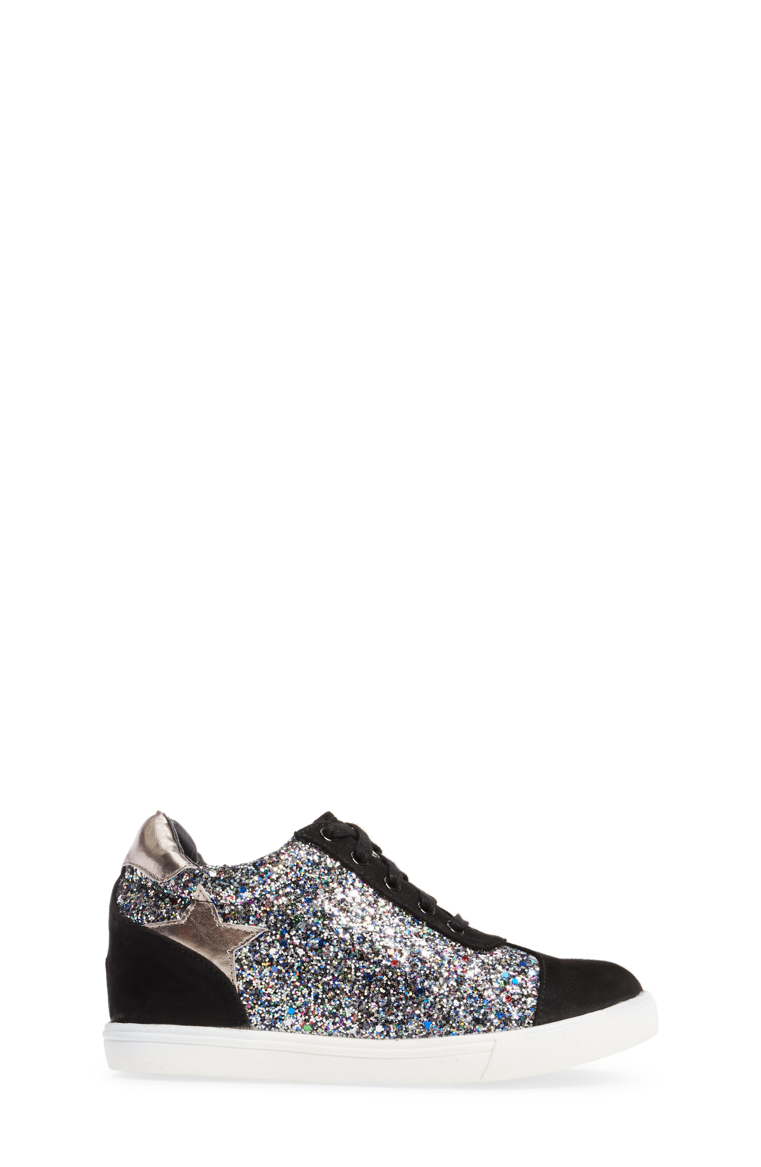 Alternate Image 2  - Ash Low Star Glittery Concealed Wedge Sneaker (Toddler, Little Kid & Big Kid)