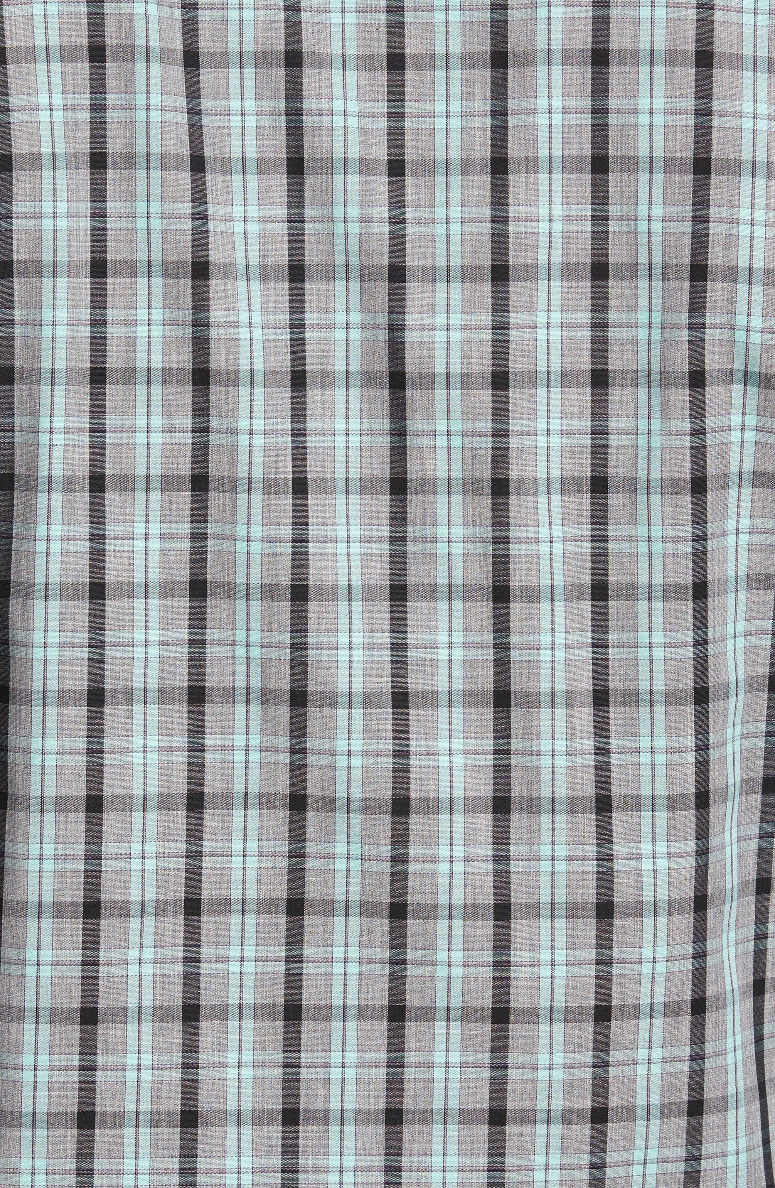 Alternate Image 5  - Cutter & Buck Davis Non-Iron Plaid Sport Shirt