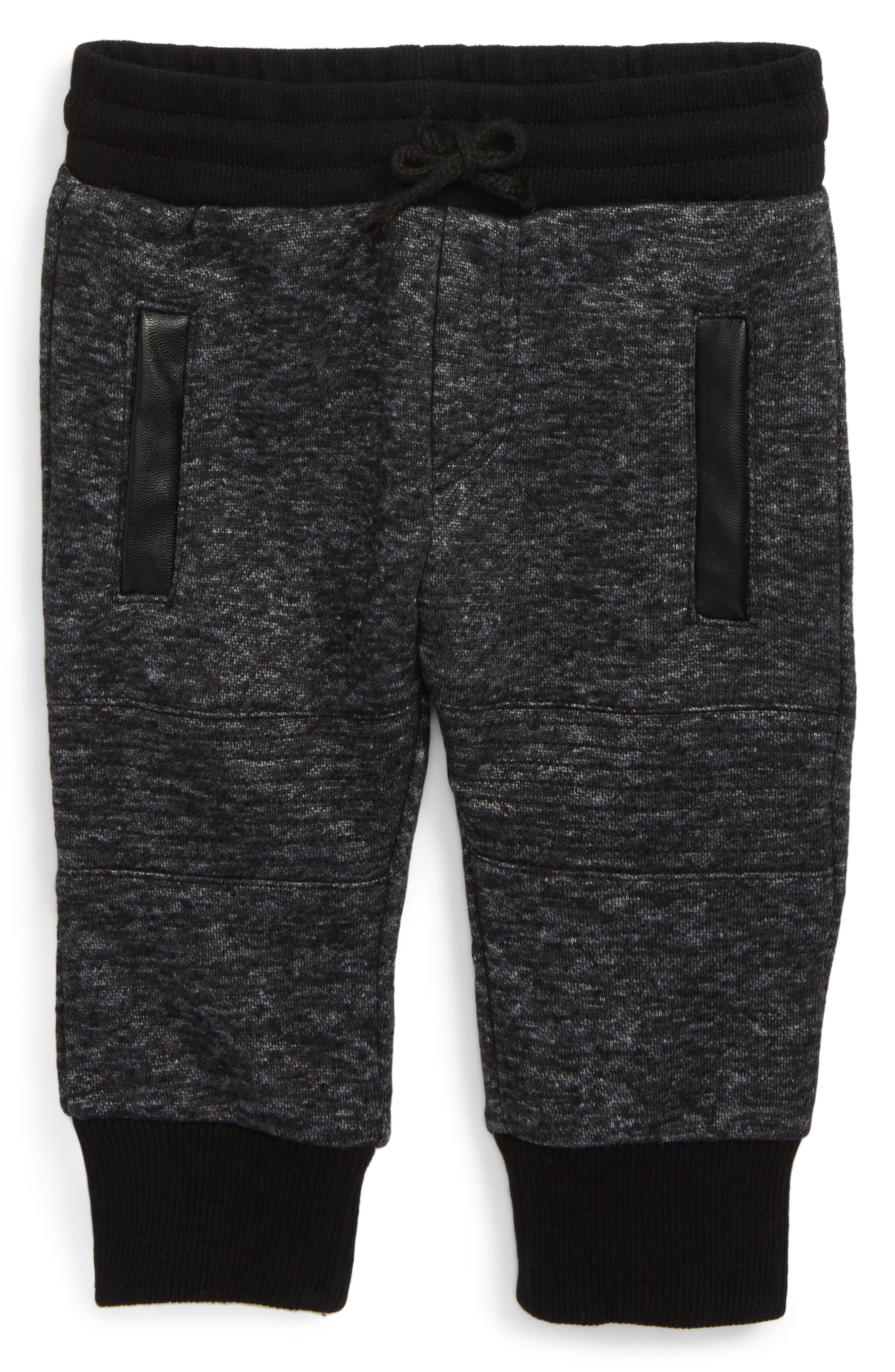 Moto Track Sweatpants,                         Main,                         color, Charcoal Marle
