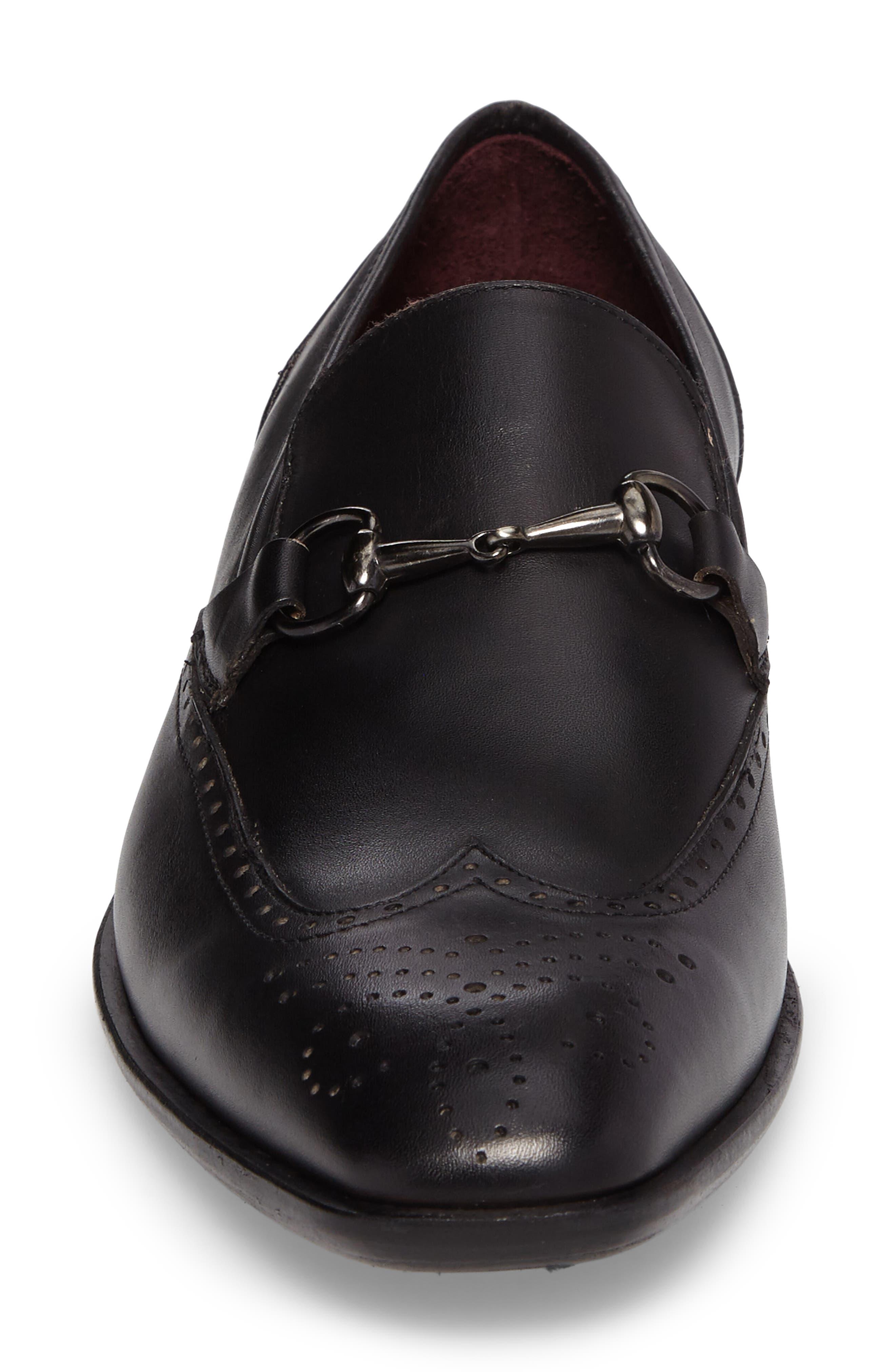Conquista Bit Loafer,                             Alternate thumbnail 4, color,                             Graphite Leather