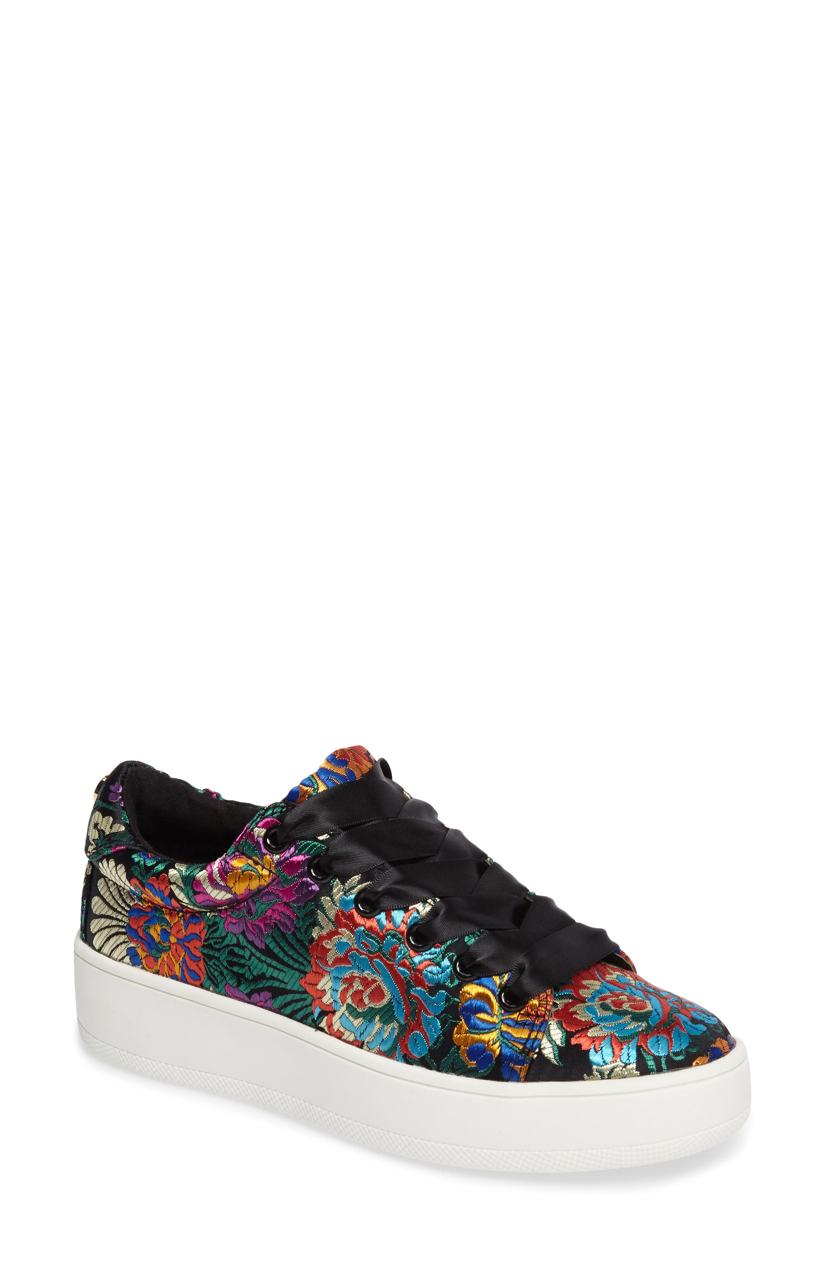 Brody Embroidered Flower Sneaker,                             Main thumbnail 1, color,                             Multi