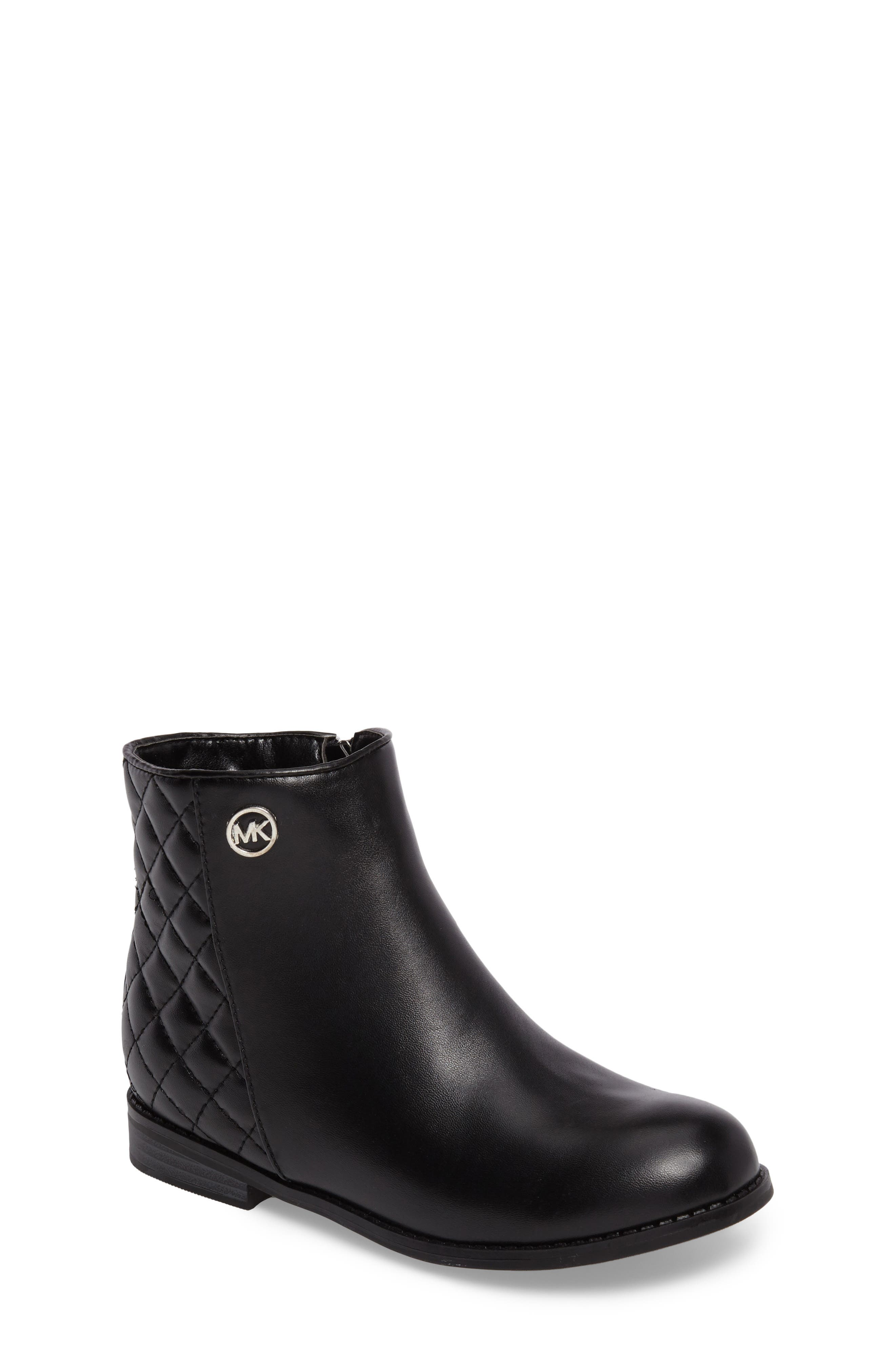 Main Image - MICHAEL Michael Kors Emma Dede Quilted Bootie (Toddler, Little Kid & Big Kid)