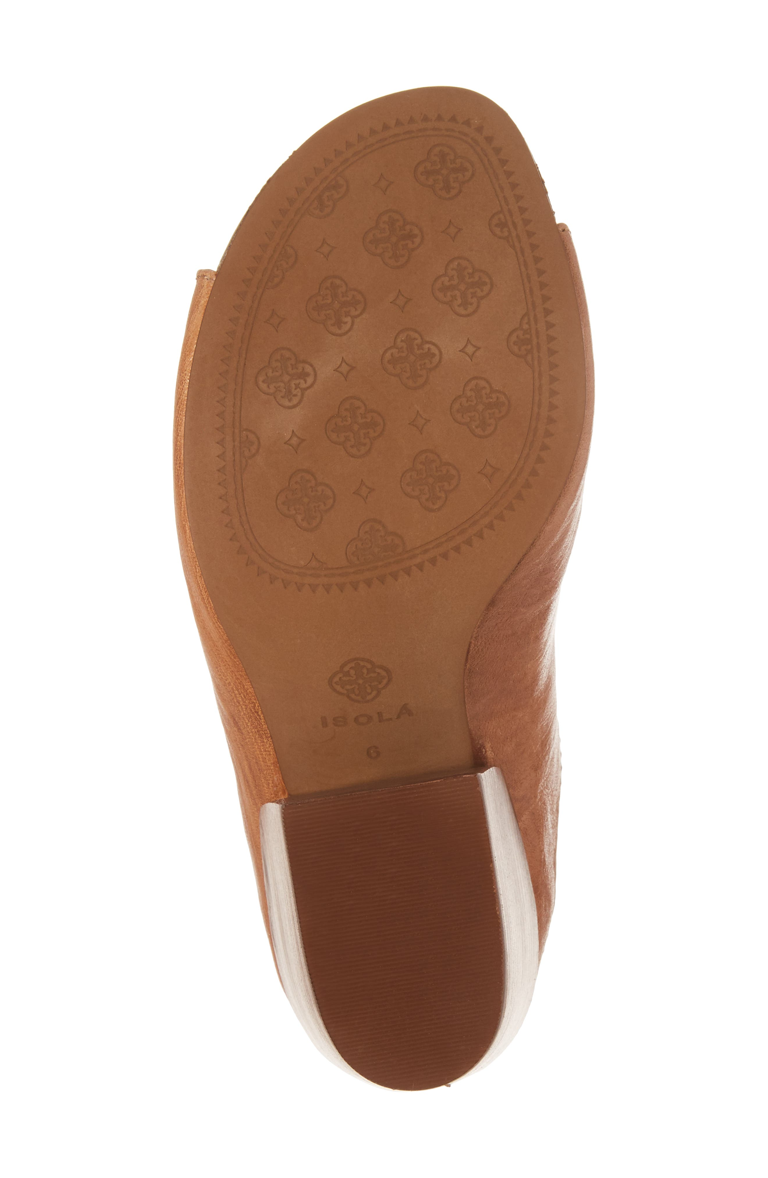 Isabella Open Toe Mule,                             Alternate thumbnail 6, color,                             Luggage Leather