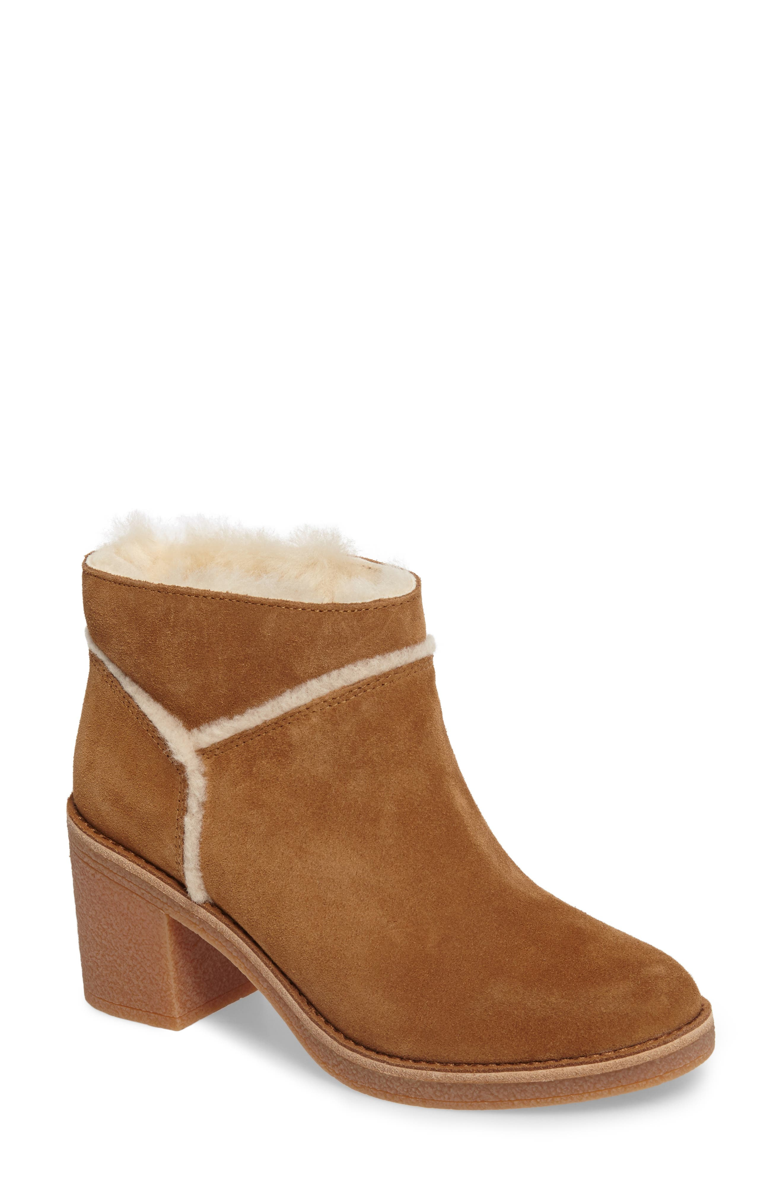 UGG® Kasen Genuine Sheepskin Lined Bootie (Women)