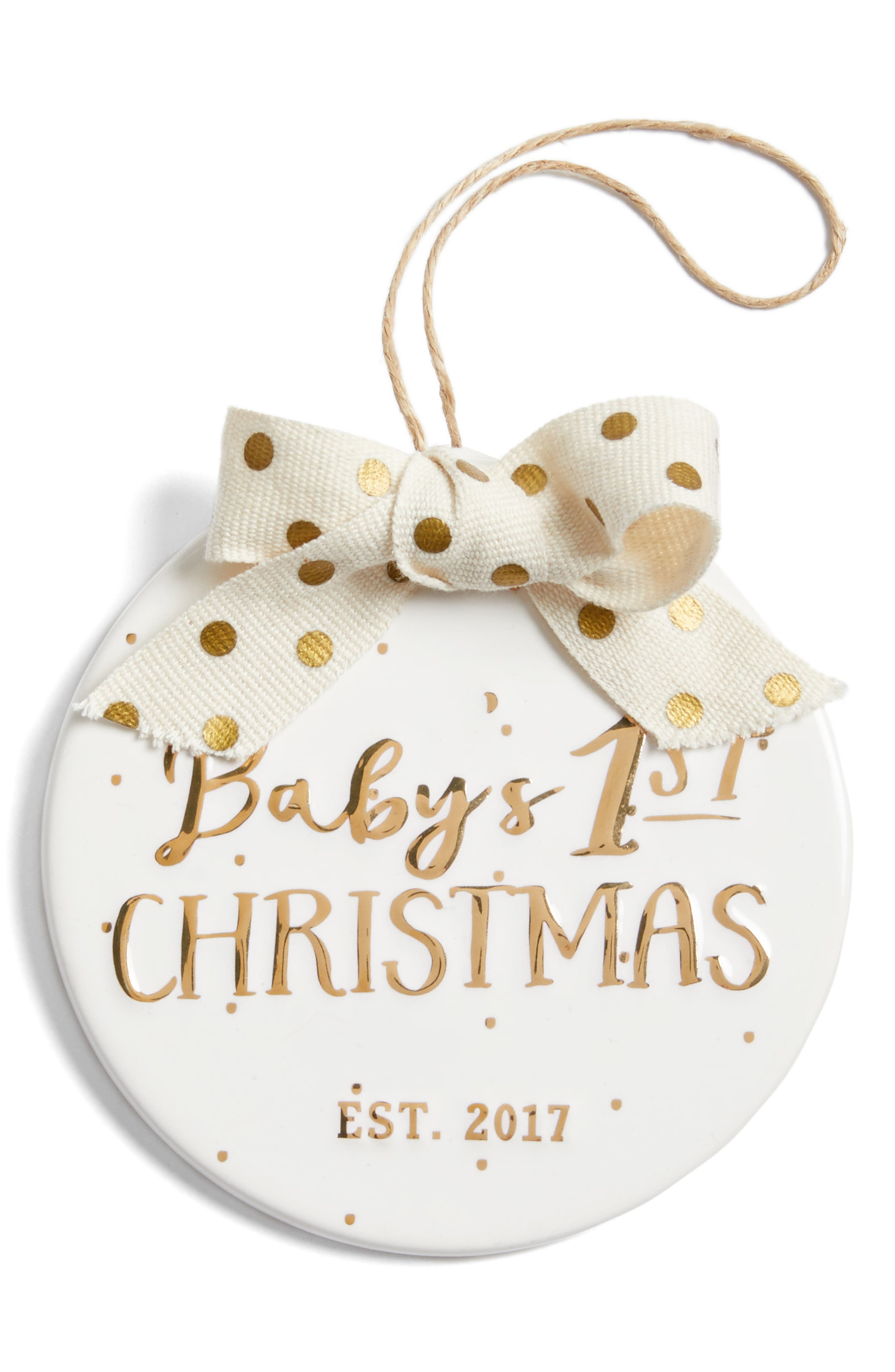 Mud Pie Baby's 1st Christmas - 2017 Ornament