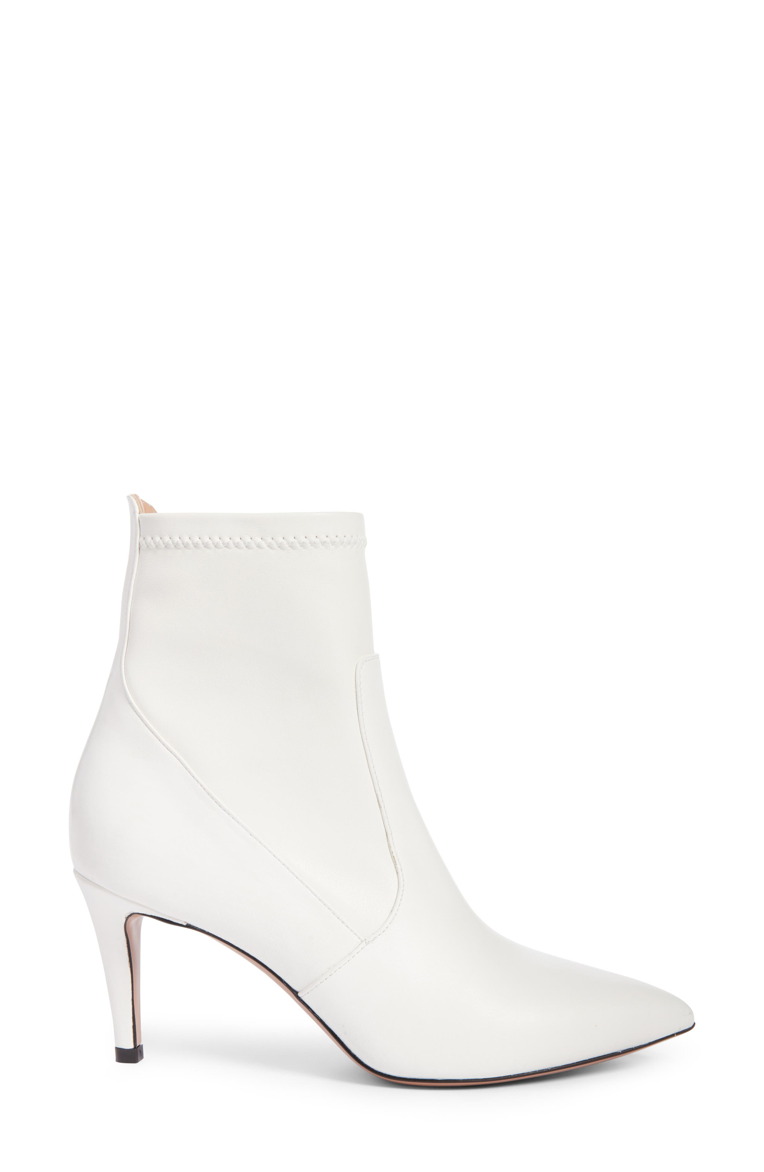 Abra Bootie,                             Alternate thumbnail 5, color,                             White Leather