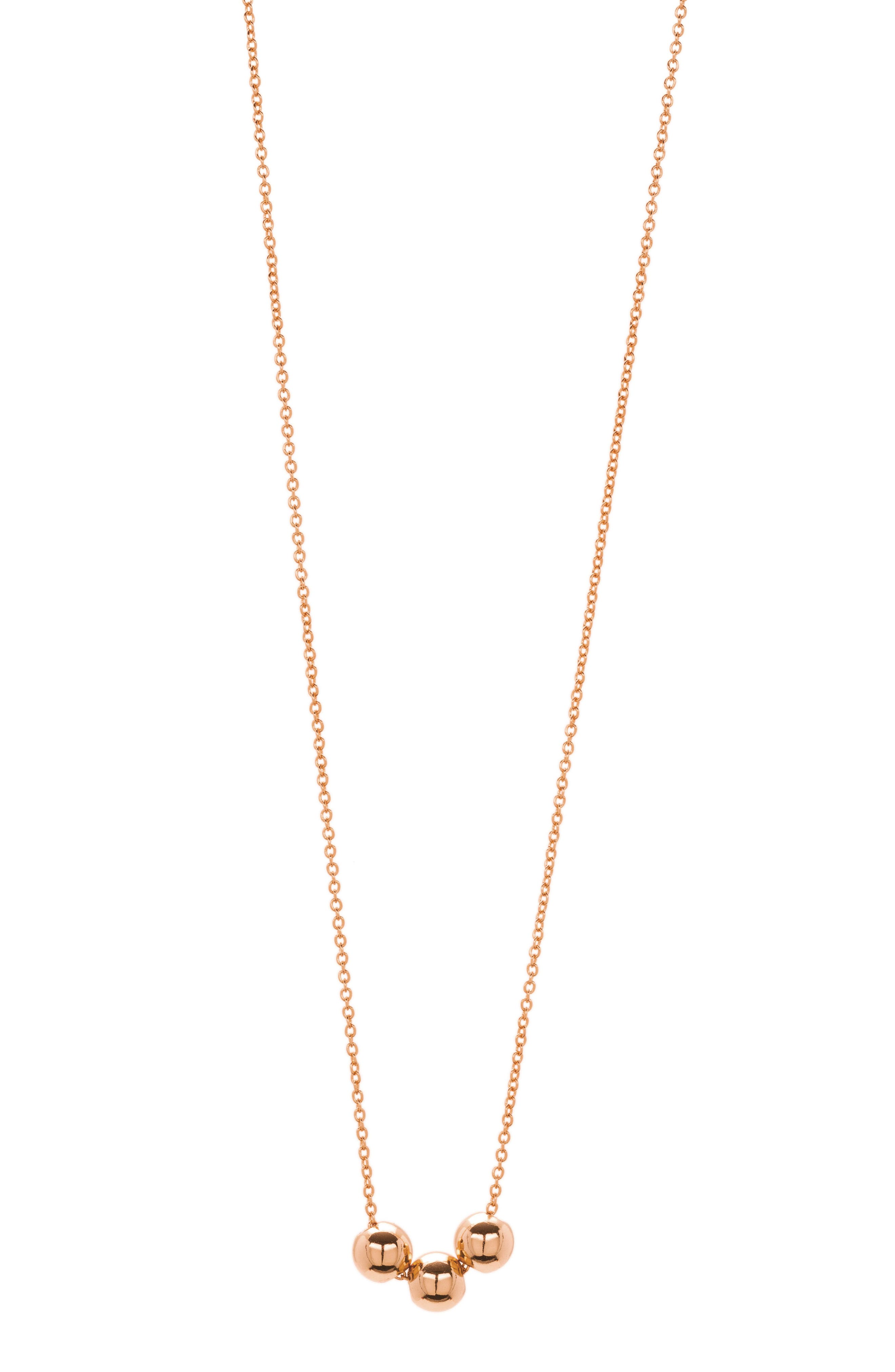Newport Beaded Necklace,                             Alternate thumbnail 3, color,                             Rose Gold