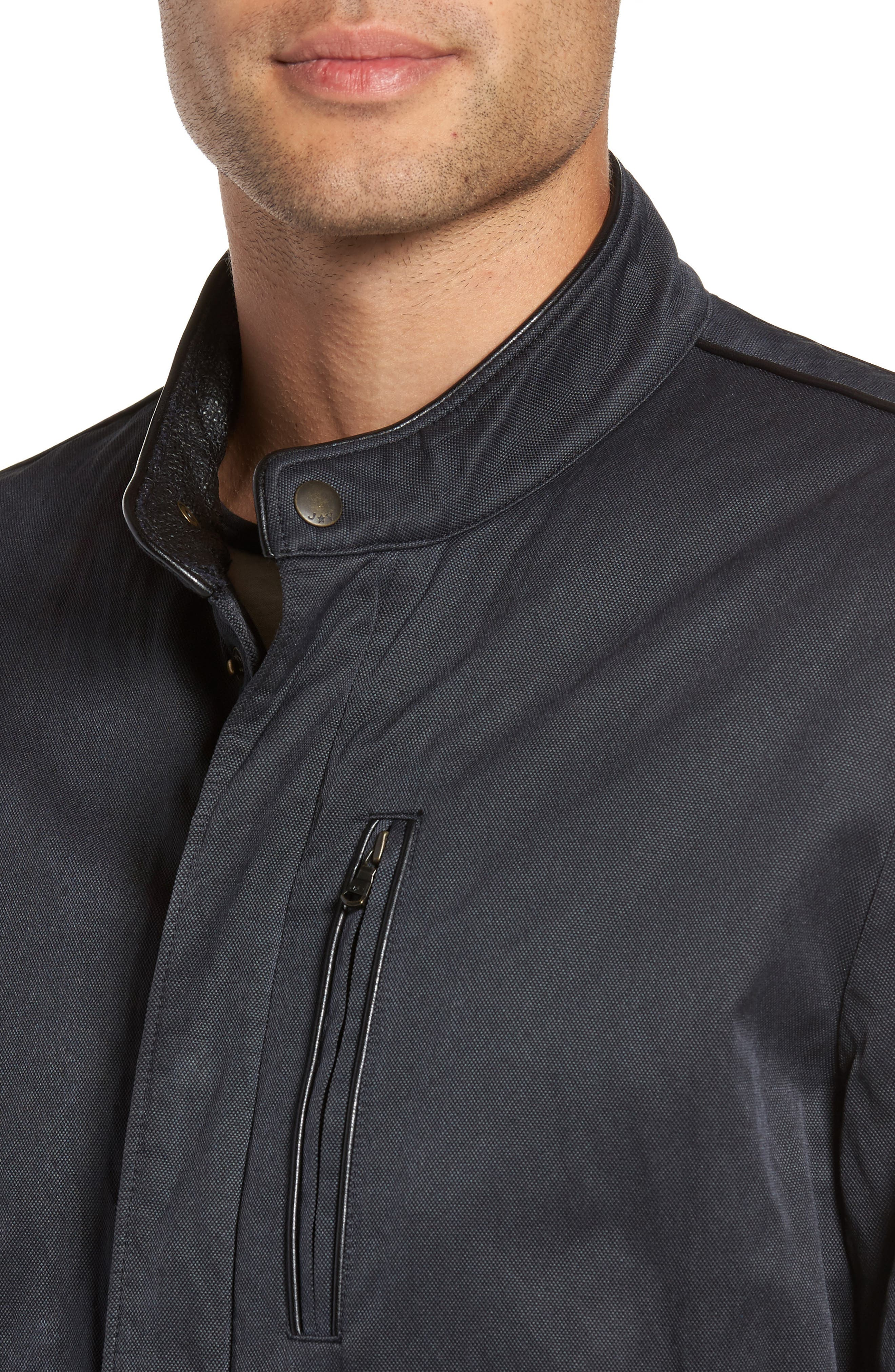 Band Collar Jacket,                             Alternate thumbnail 4, color,                             Midnight