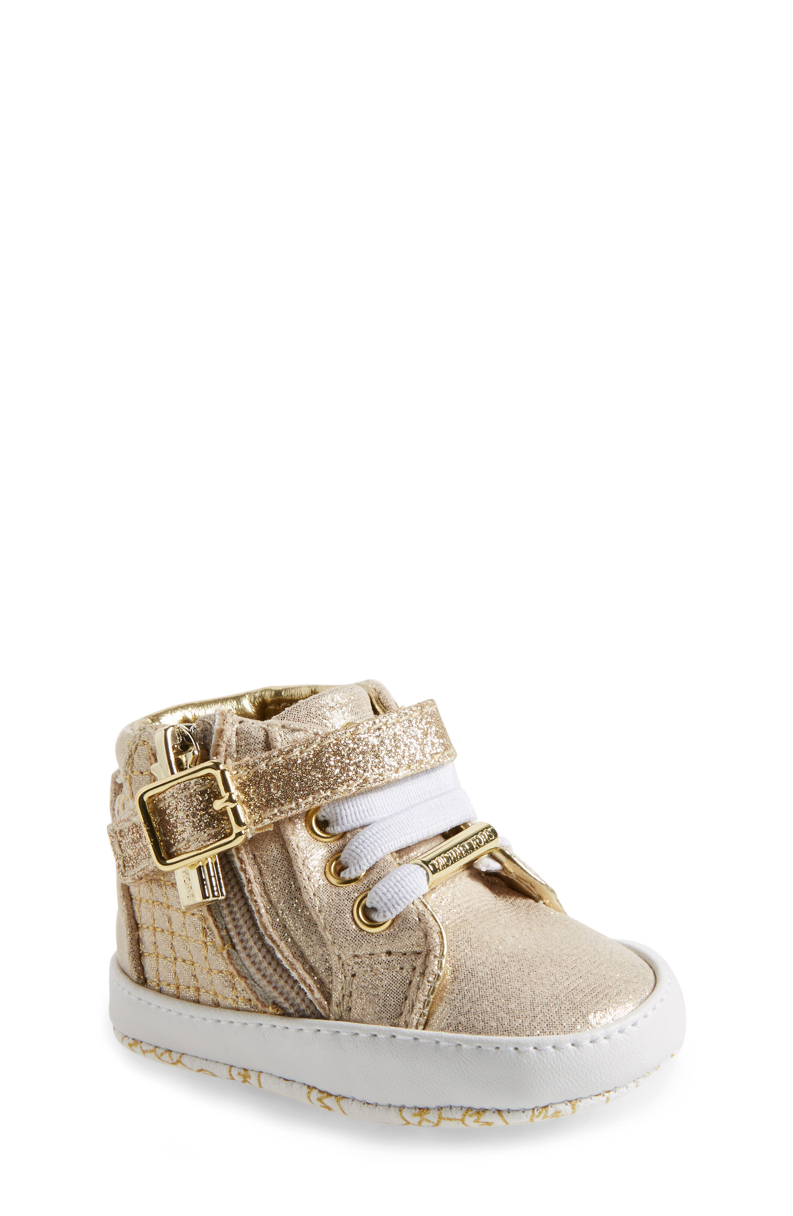 MICHAEL Michael Kors Rio High Top Crib Shoe (Baby)