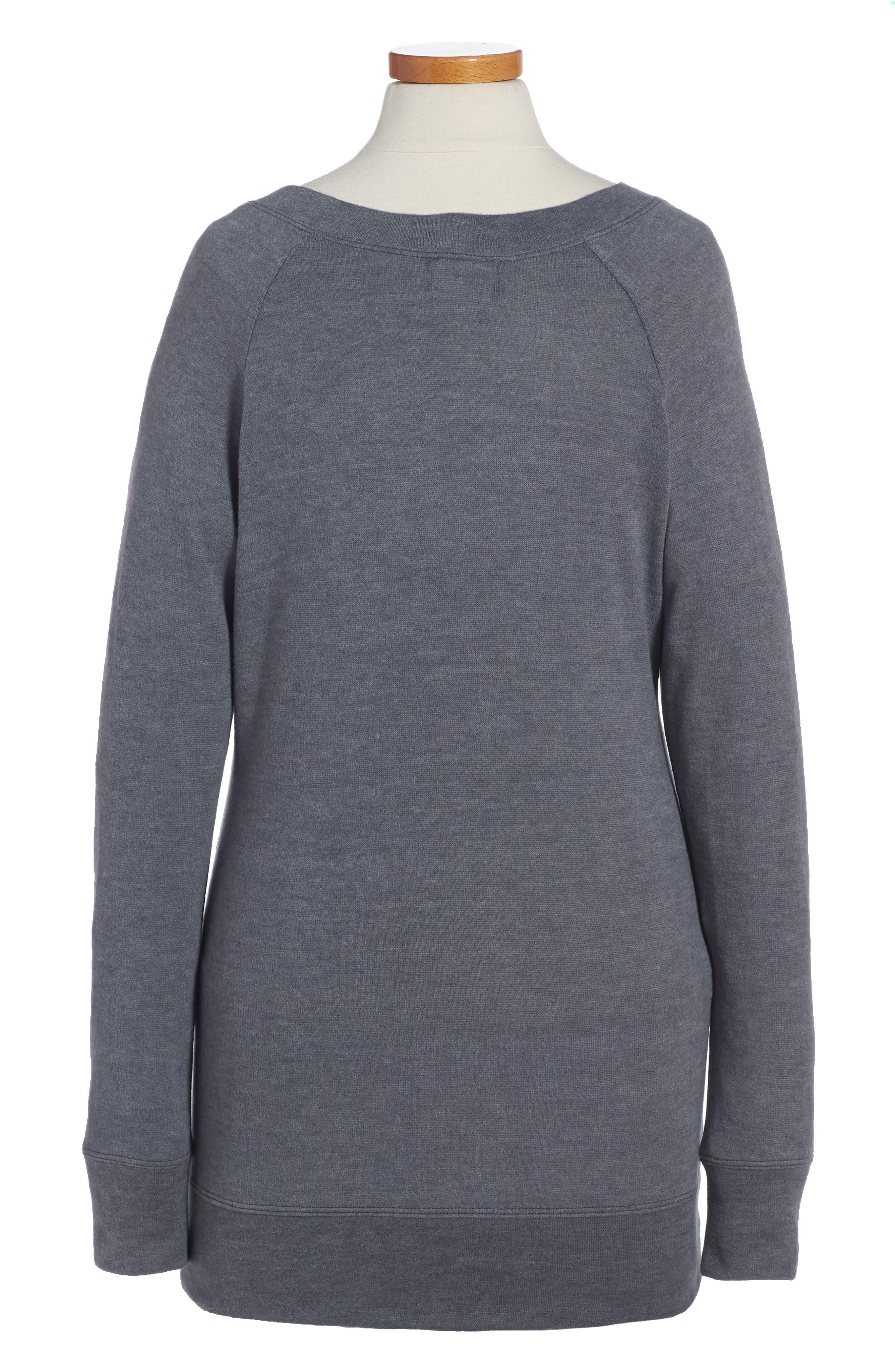 Sweatshirt Dress,                             Alternate thumbnail 2, color,                             Grey