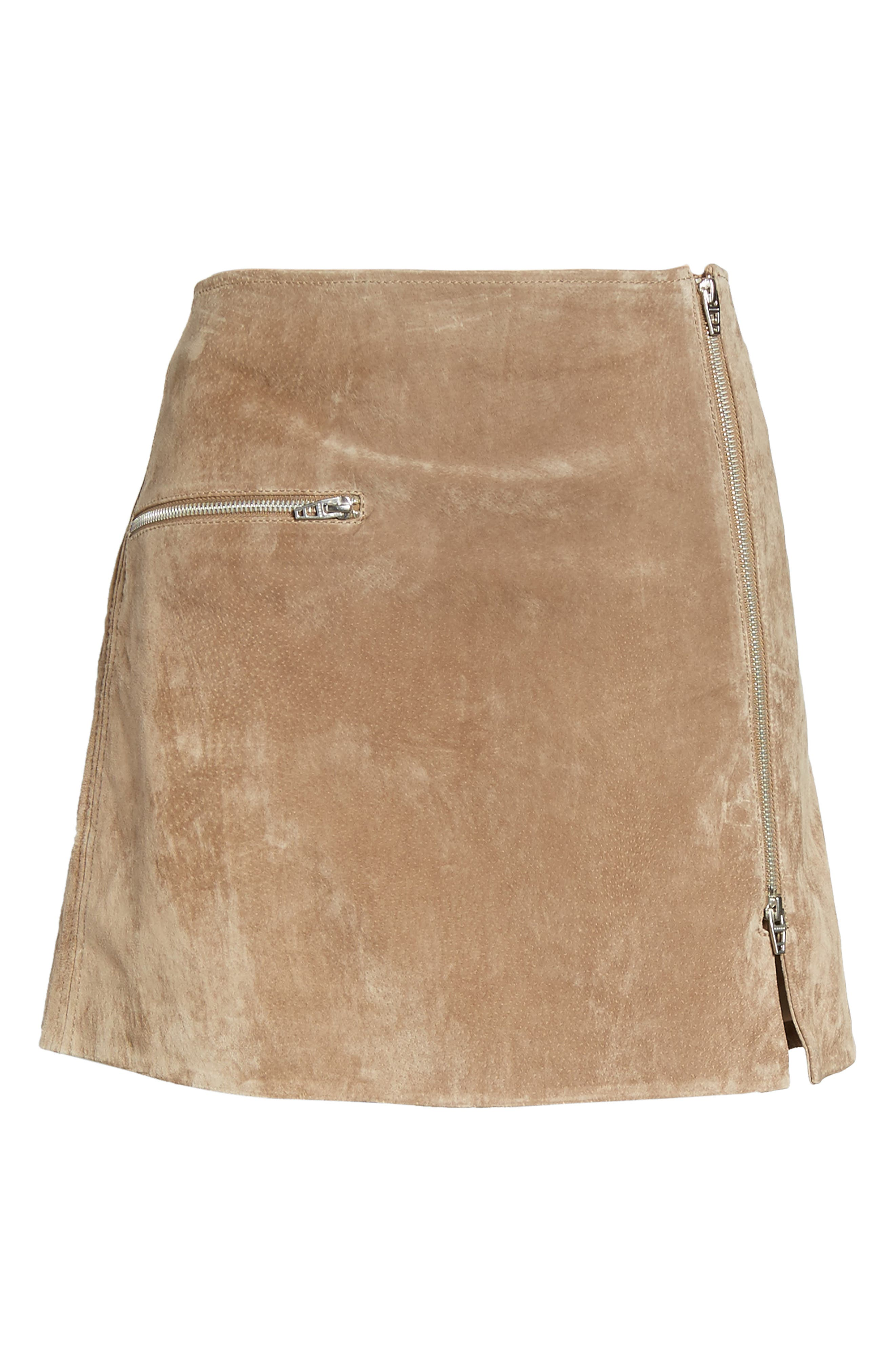 Suede Miniskirt,                             Alternate thumbnail 7, color,                             Midnight Toker
