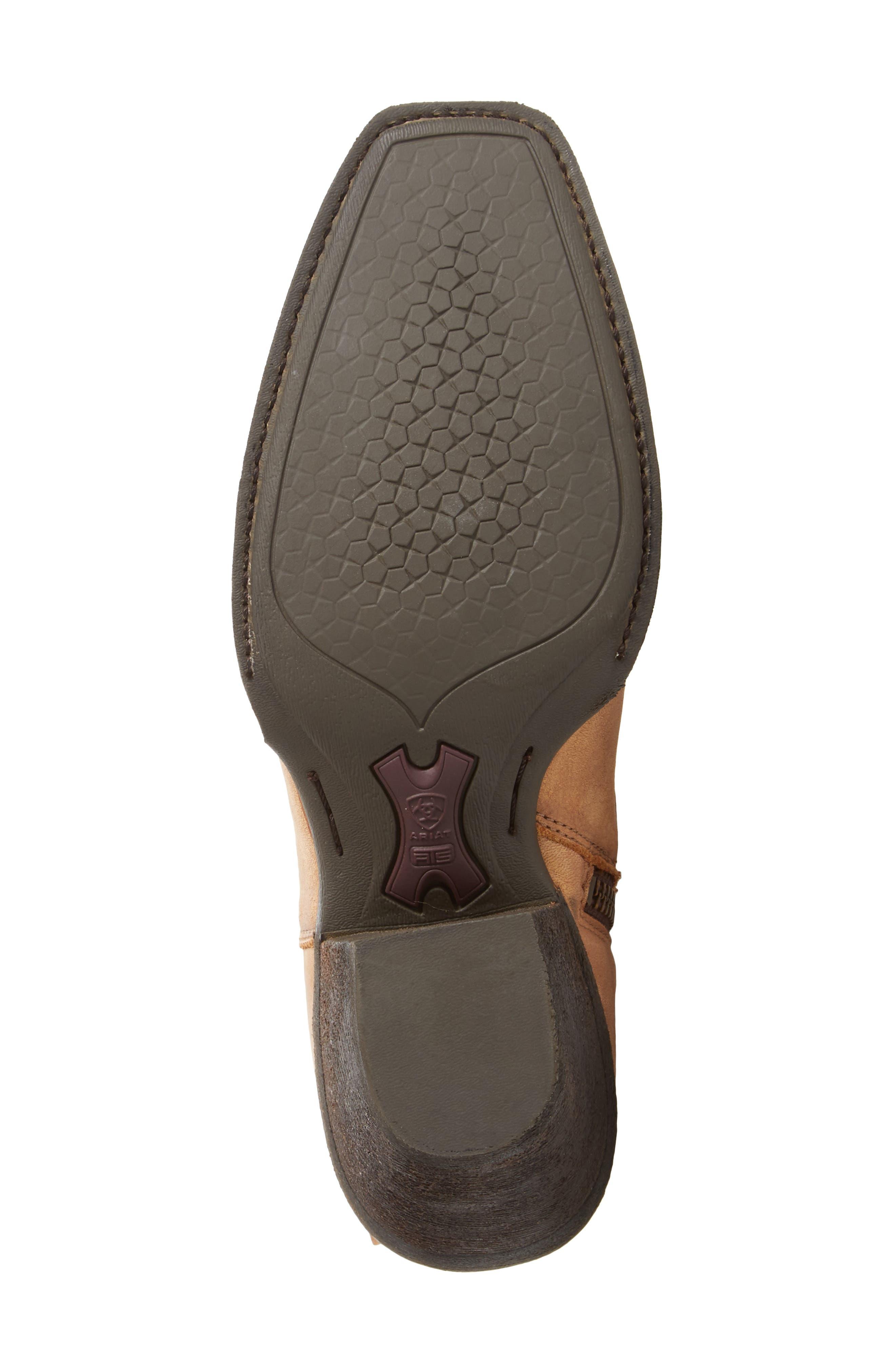 Leyton Fringe Western Boot,                             Alternate thumbnail 6, color,                             Tack Room Honey Leather
