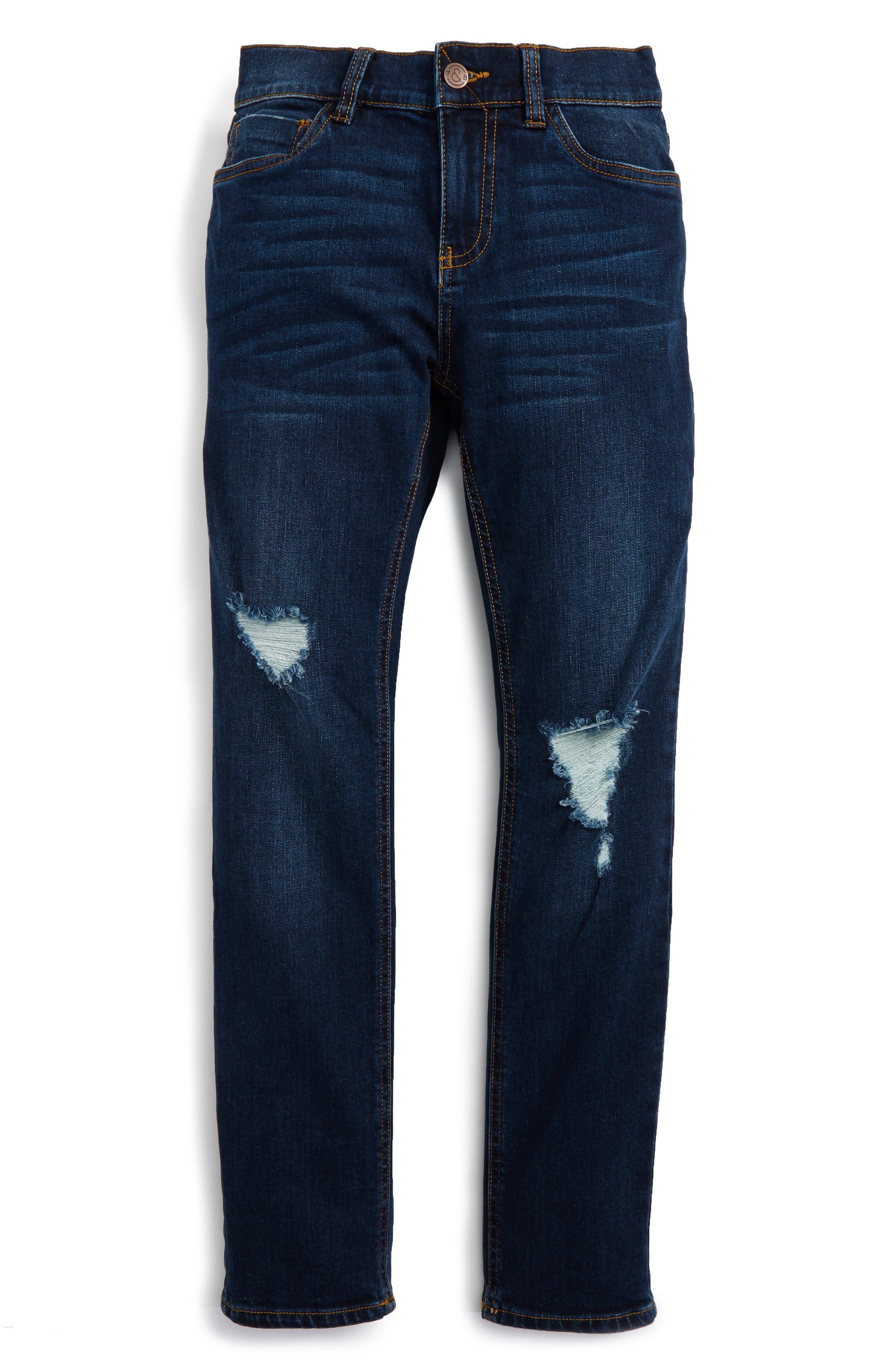 Main Image - Treasure & Bond Distressed Skinny Jeans (Big Boys)