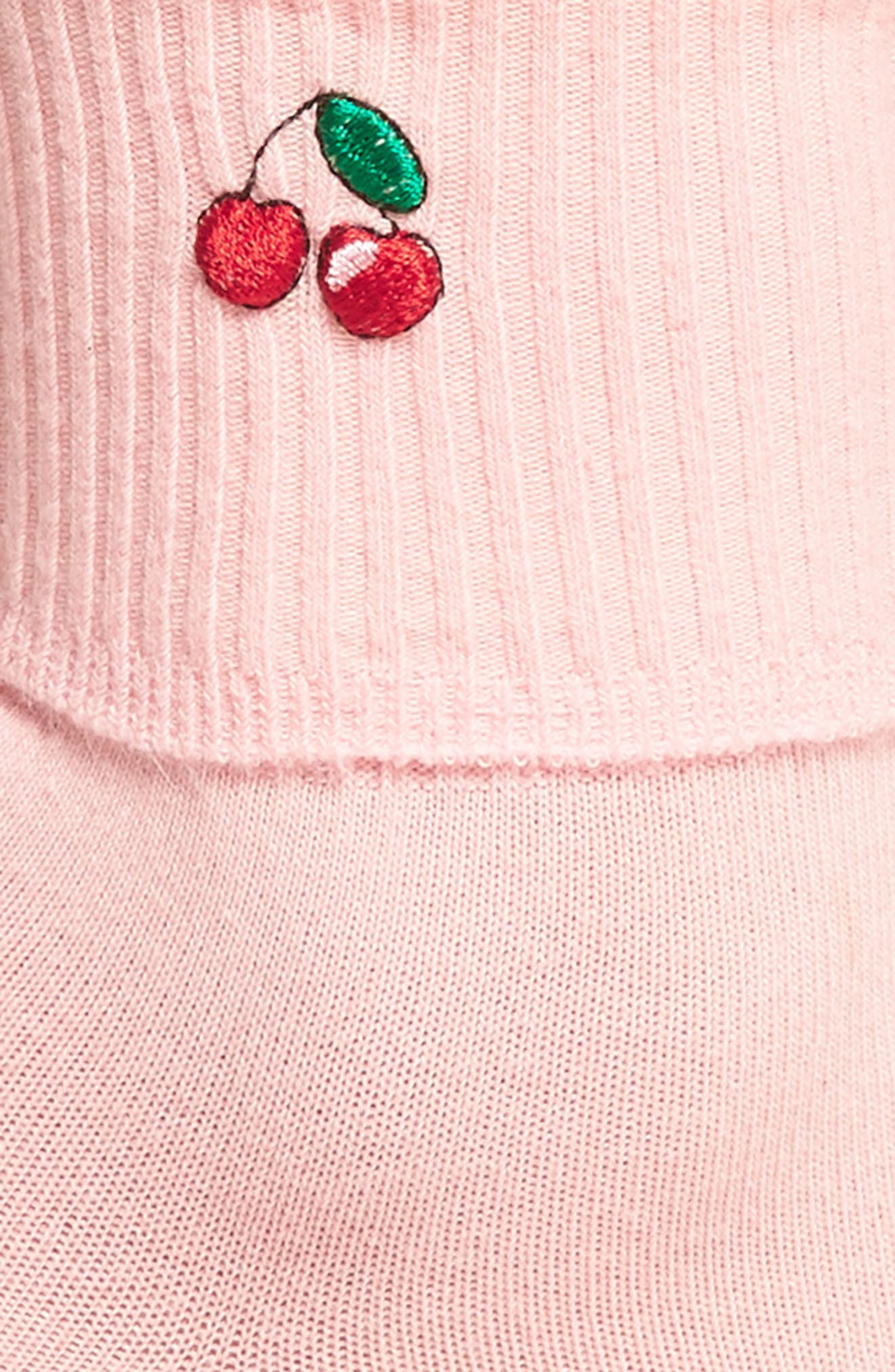 Cherry Socks,                             Alternate thumbnail 2, color,                             Pink/ Red