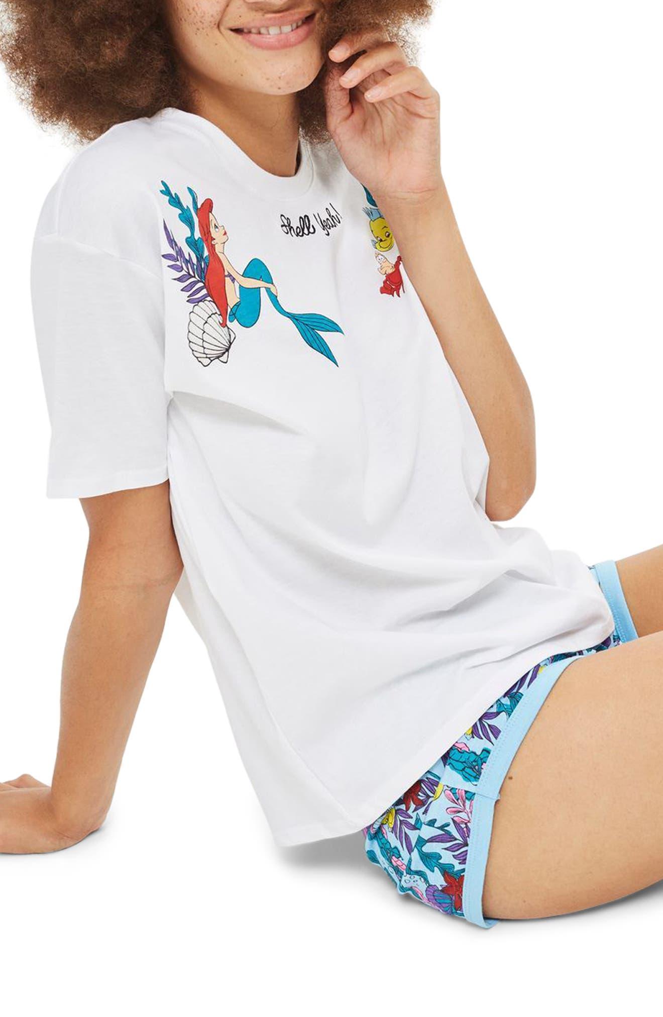 Shell Yeah Pajamas,                             Main thumbnail 1, color,                             White Multi