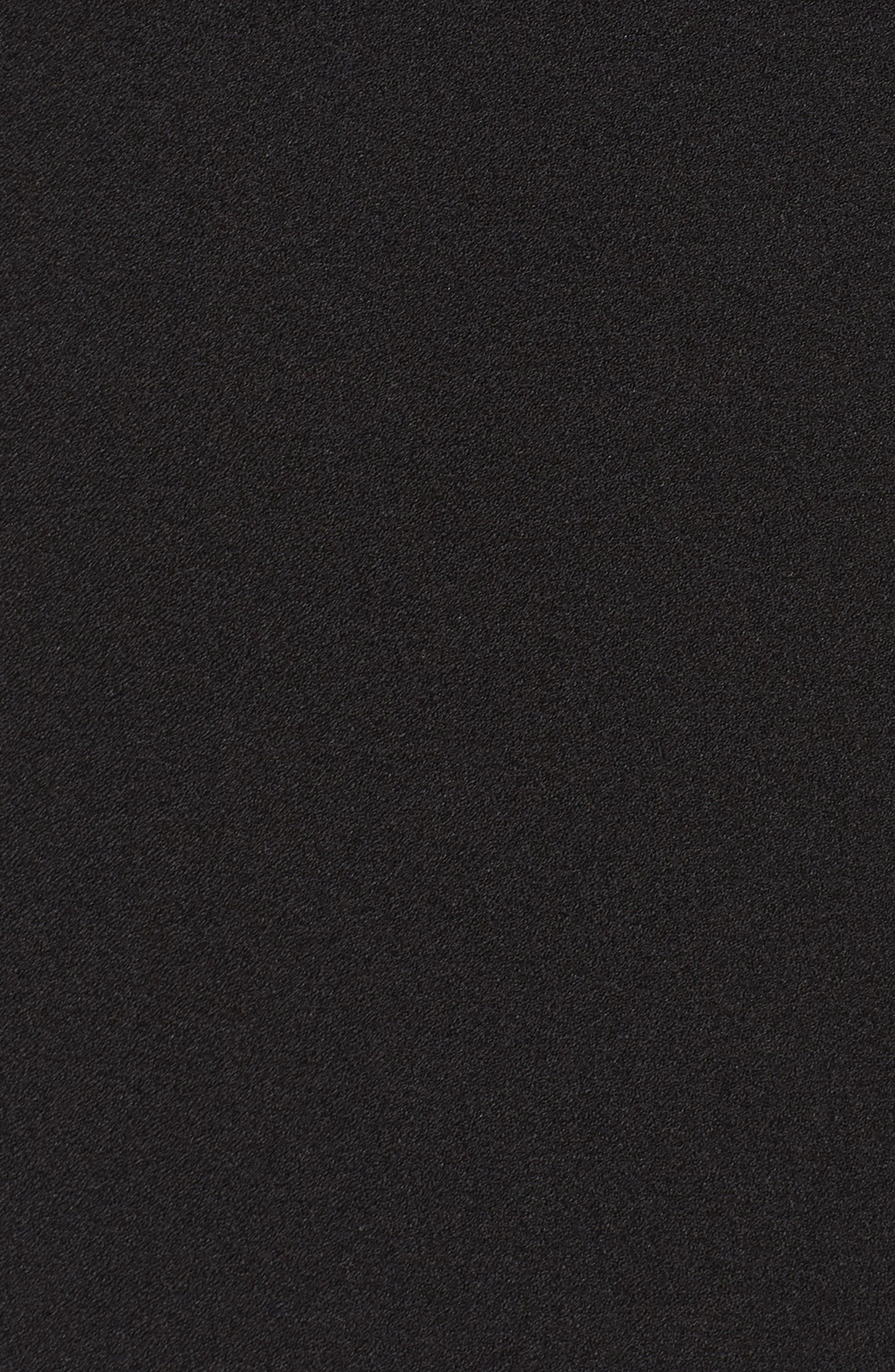 Ruffle Cold Shoulder Shift Dress,                             Alternate thumbnail 5, color,                             Black