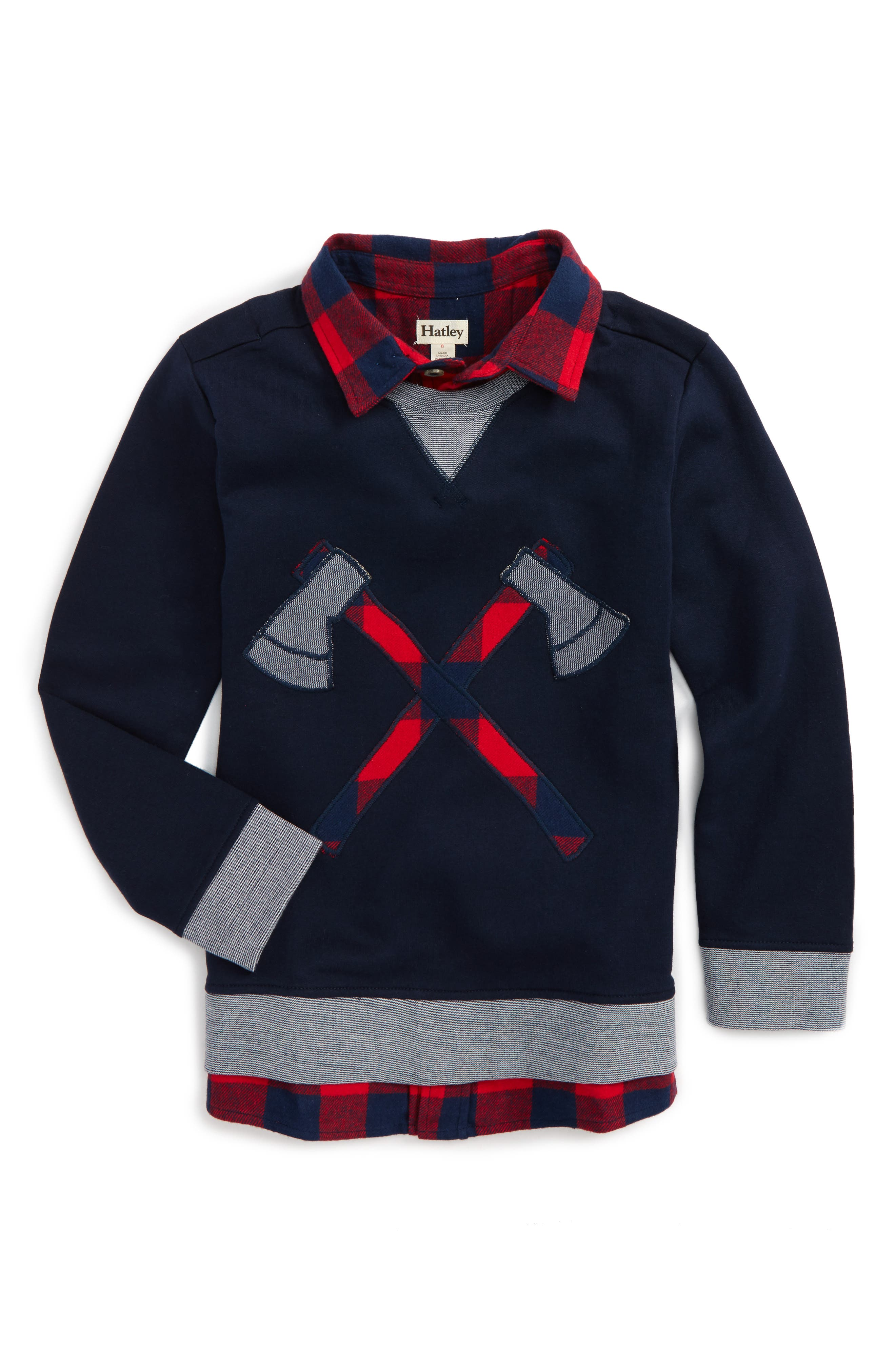 Alternate Image 1 Selected - Hatley Fooler Sweater (Toddler Boys, Little Boys & Big Boys)