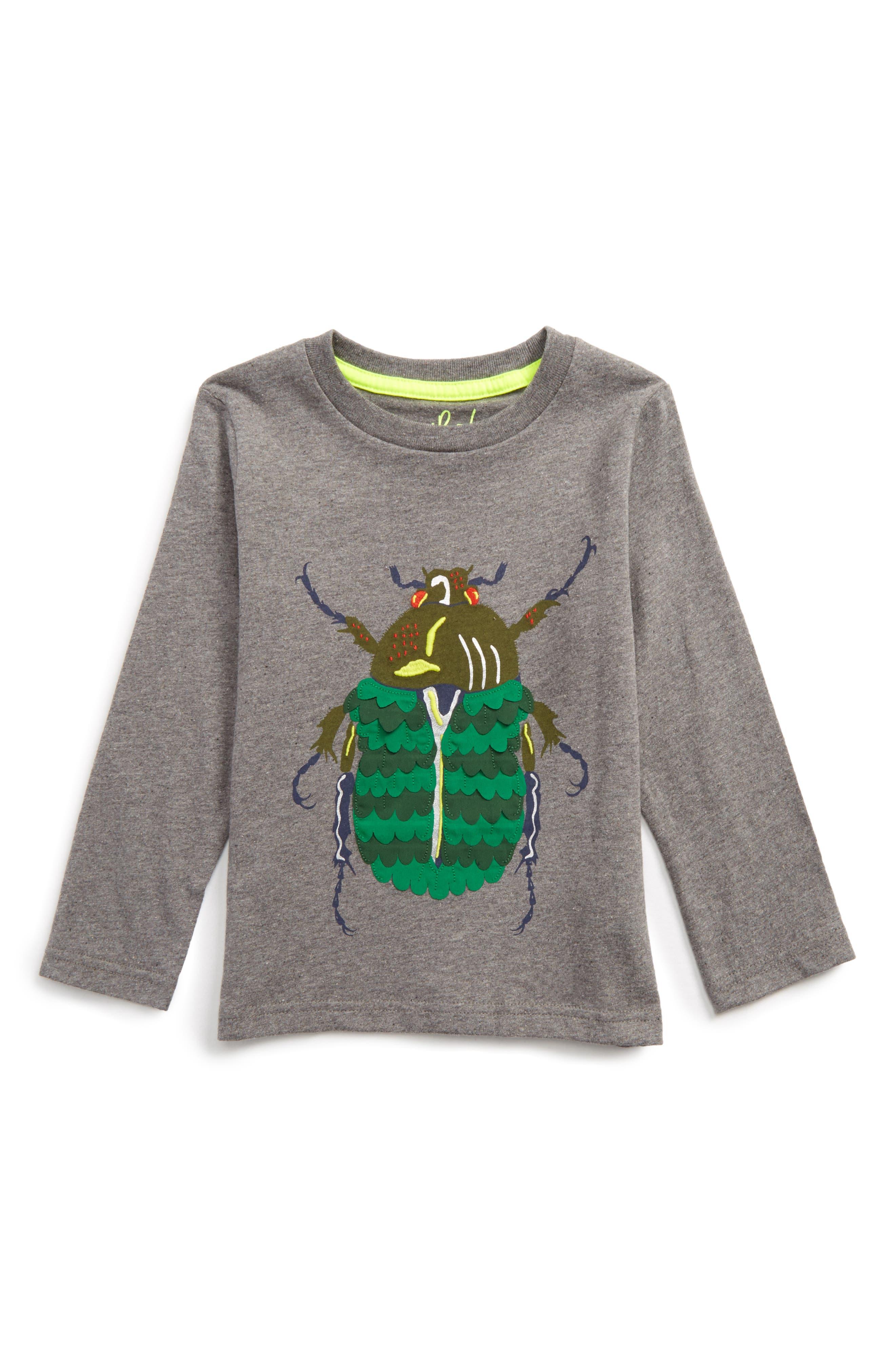 Textured Creature T-Shirt,                             Main thumbnail 1, color,                             Grey Marl Beetle