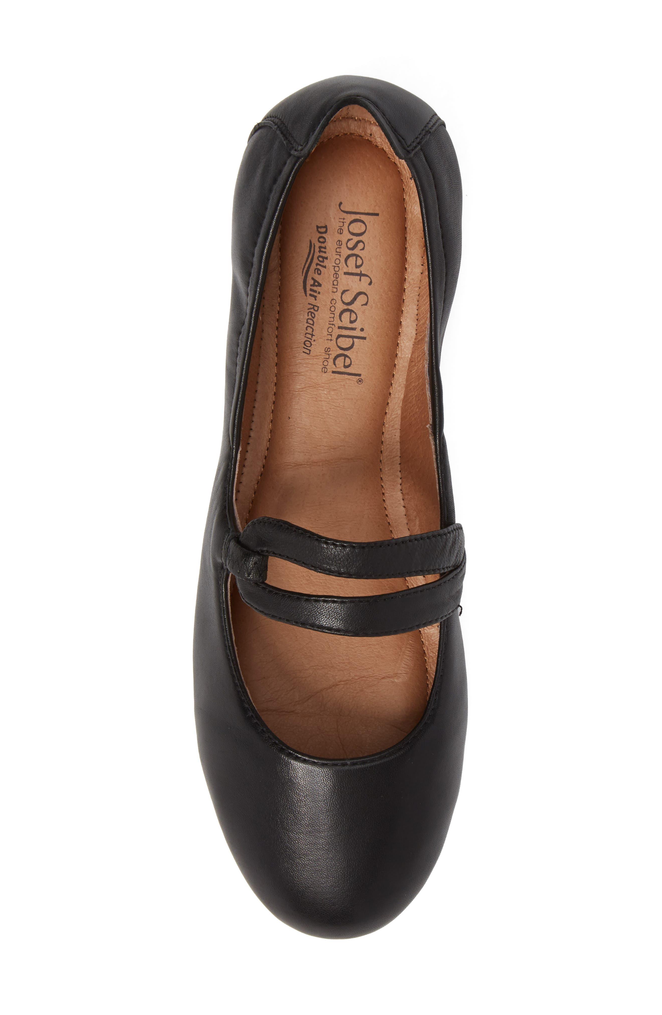 Pippa 63 Flat,                             Alternate thumbnail 5, color,                             Black Leather